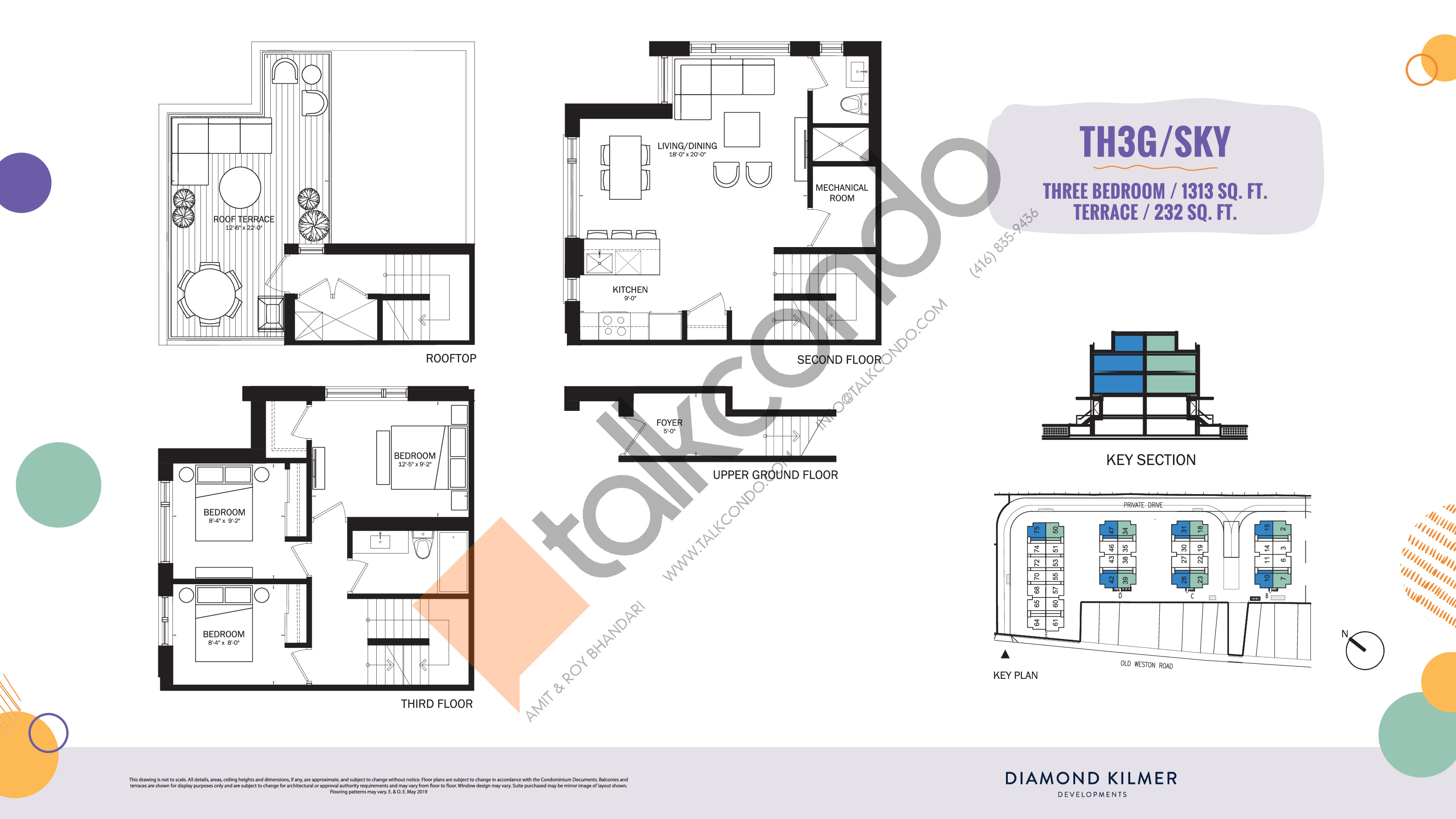 TH3G/Sky Floor Plan at Reunion Crossing Condos & Urban Towns - 1313 sq.ft