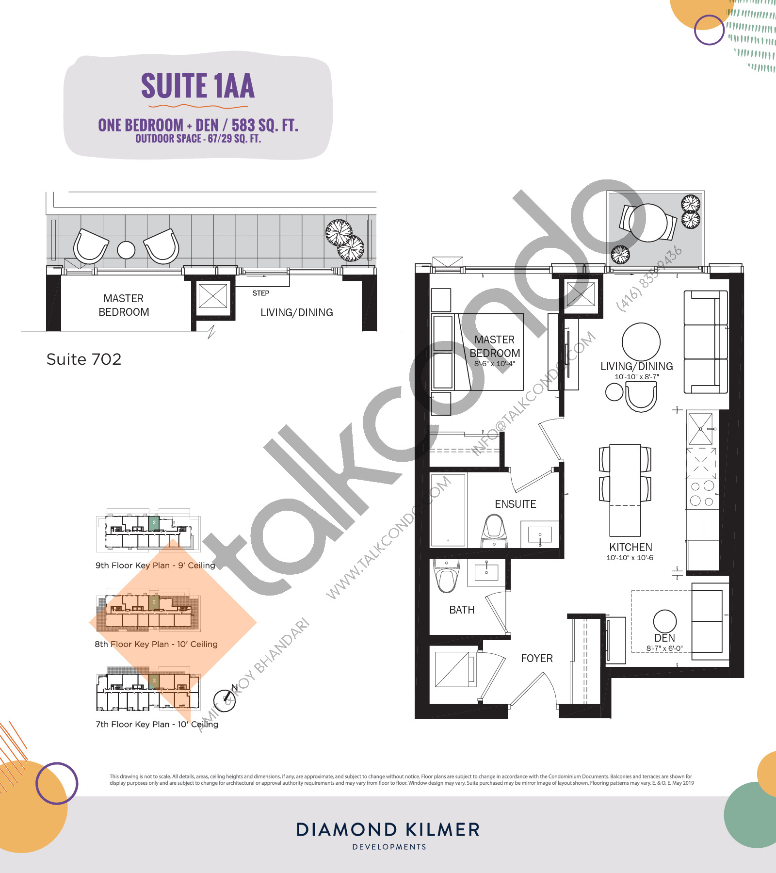 1AA Floor Plan at Reunion Crossing Condos & Urban Towns - 583 sq.ft