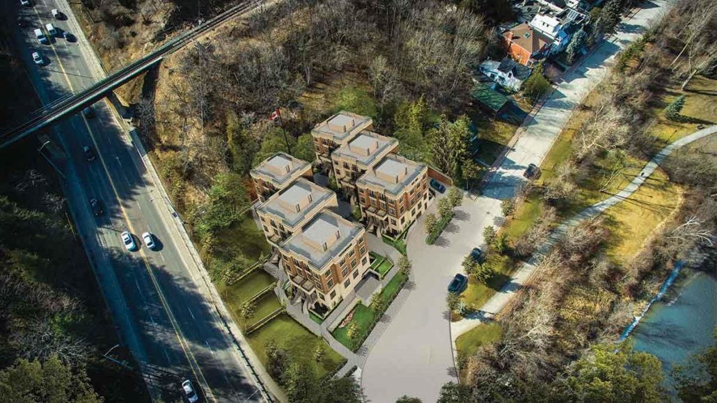 Rialto Villa Towns Aerial
