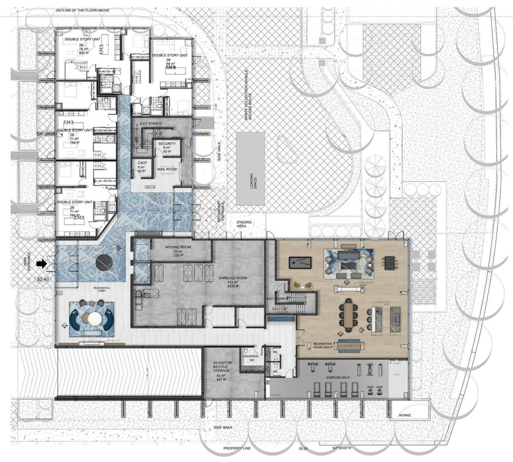 Rise at Stride Condos Ground Floor Plan