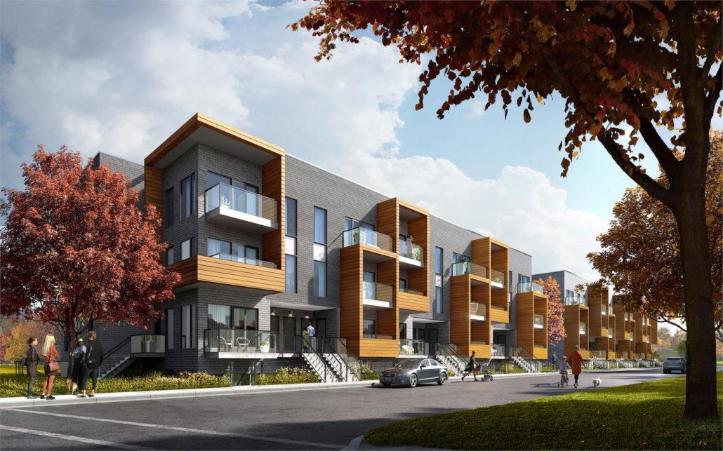 The Clarkson Urban Towns Exterior Rendering