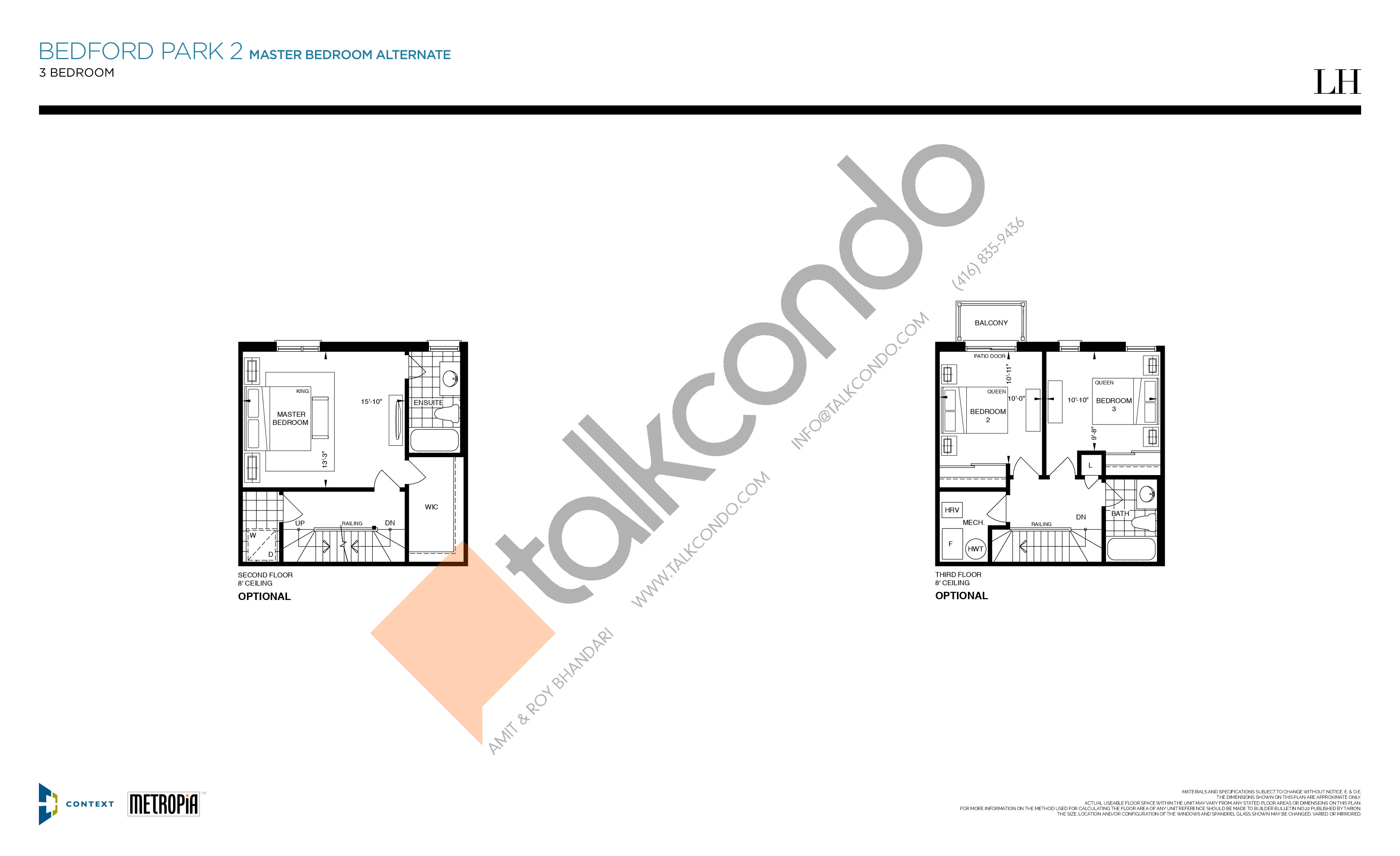 Bedford Park 2 (Master Bed Alternate) Floor Plan at The New Lawrence Heights Phase 2 Condos - 1426 sq.ft