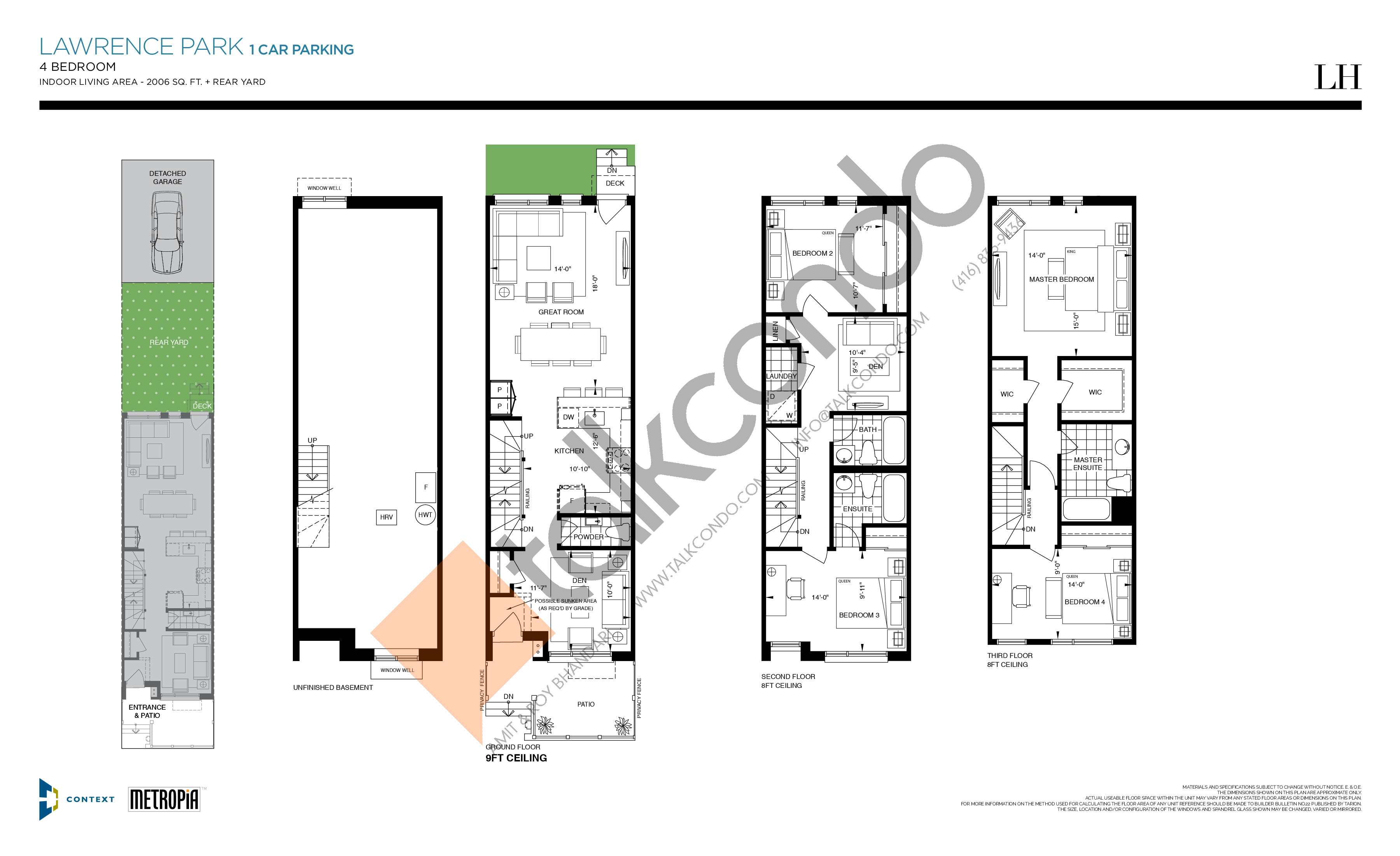 Lawrence Park (1 Car Parking) Floor Plan at The New Lawrence Heights Phase 2 Condos - 2006 sq.ft