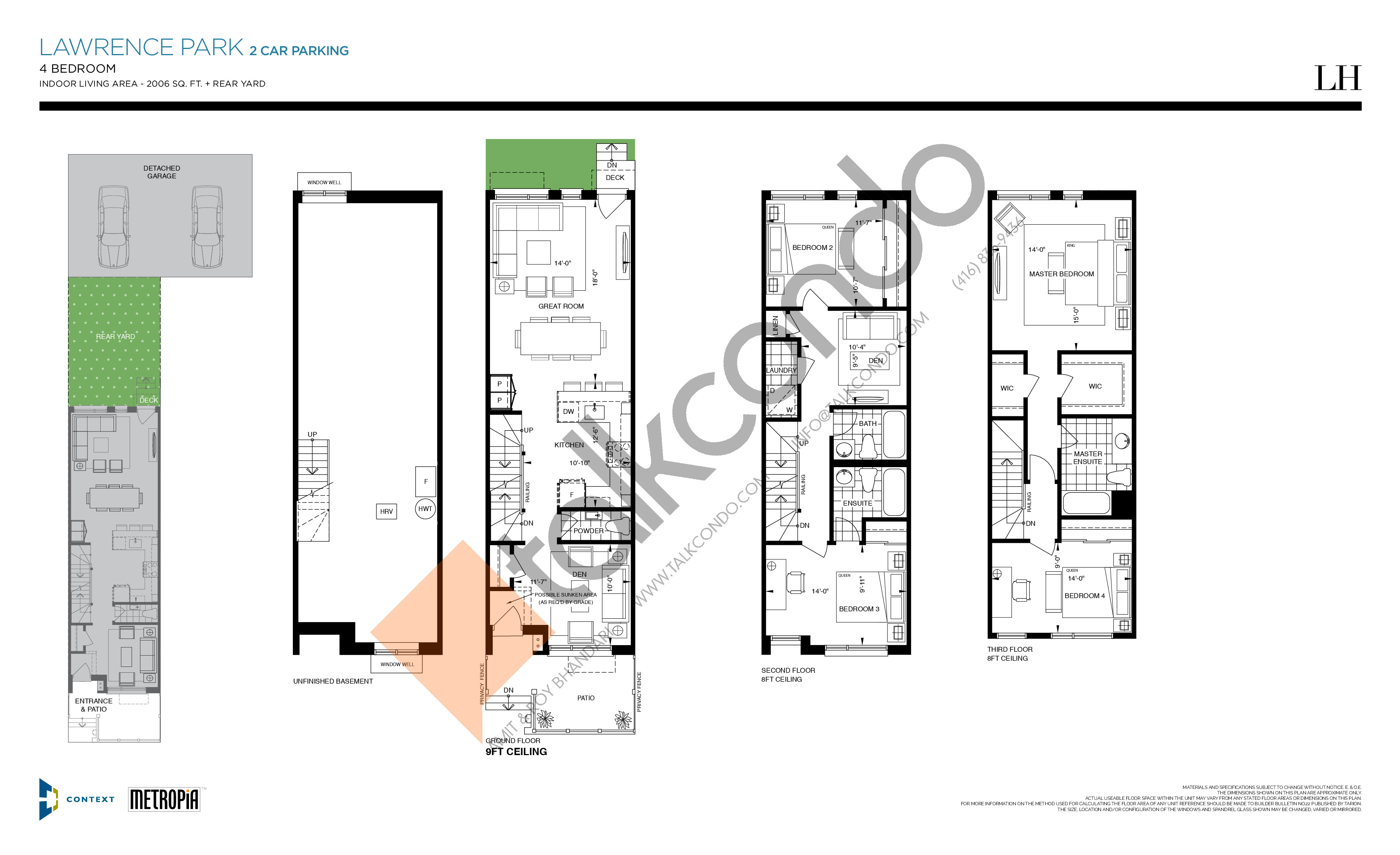 Lawrence Park (2 Car Parking) Floor Plan at The New Lawrence Heights Phase 2 Condos - 2006 sq.ft
