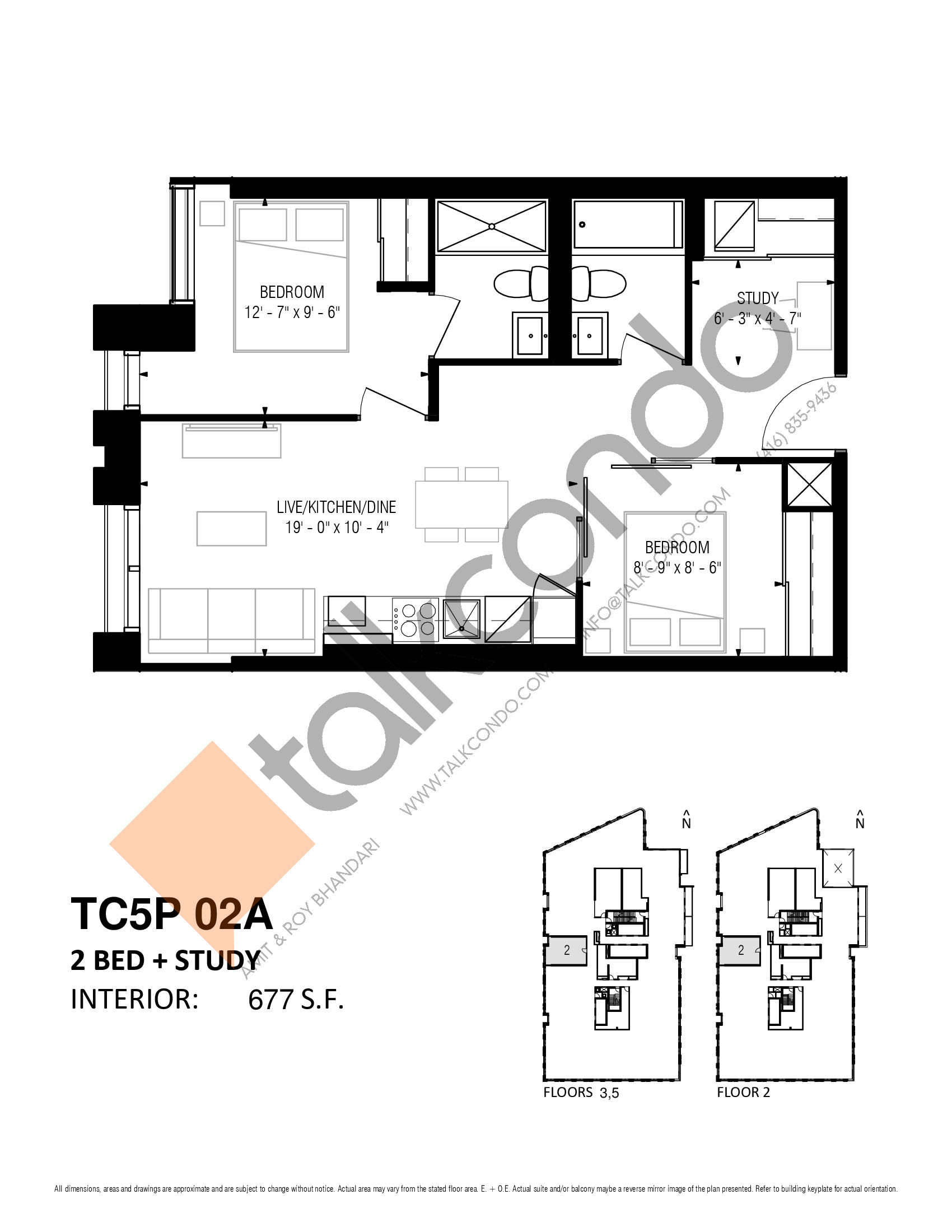 TC5P 02A Floor Plan at Transit City 5 (TC5) Condos - 677 sq.ft