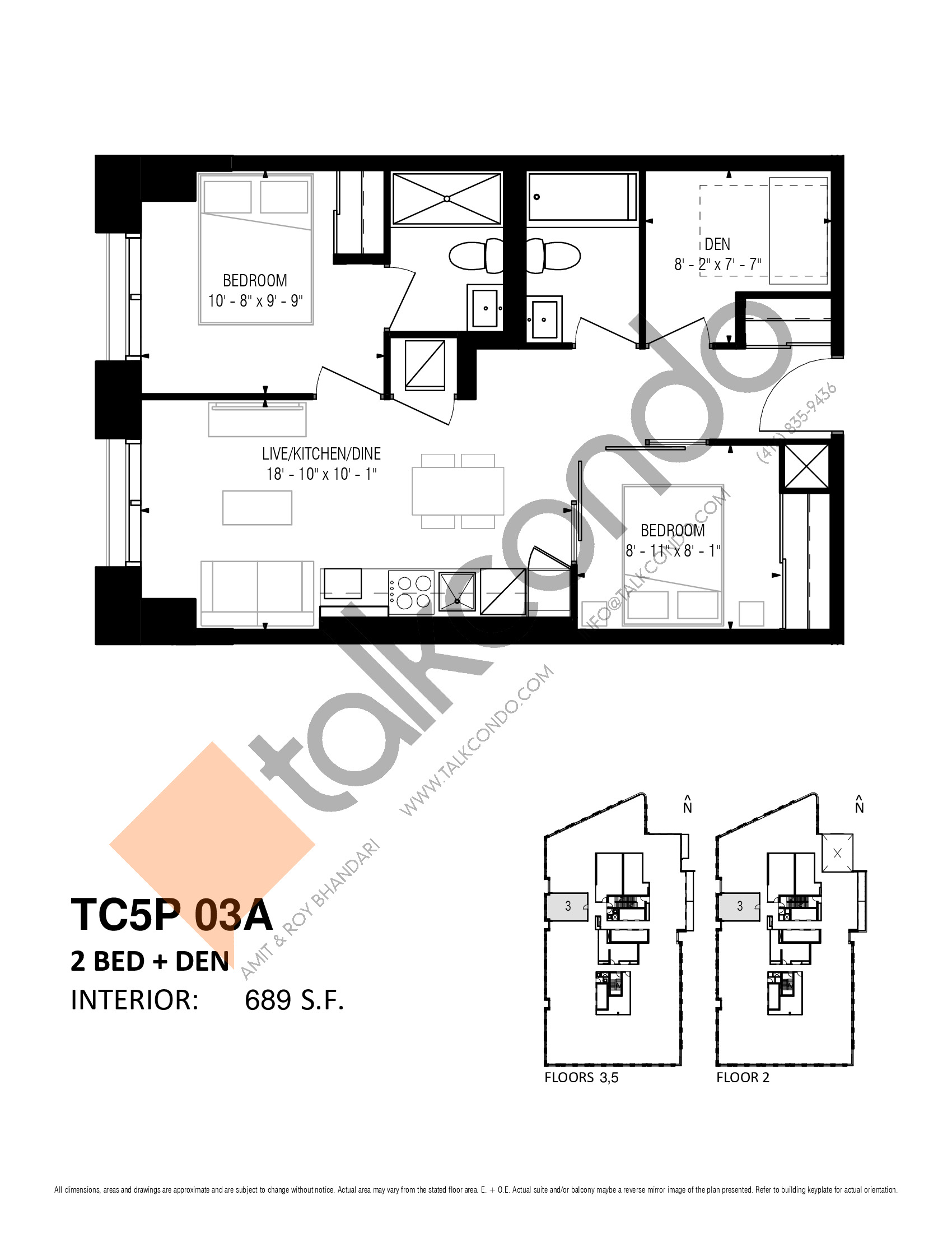 TC5P 03A Floor Plan at Transit City 5 (TC5) Condos - 689 sq.ft