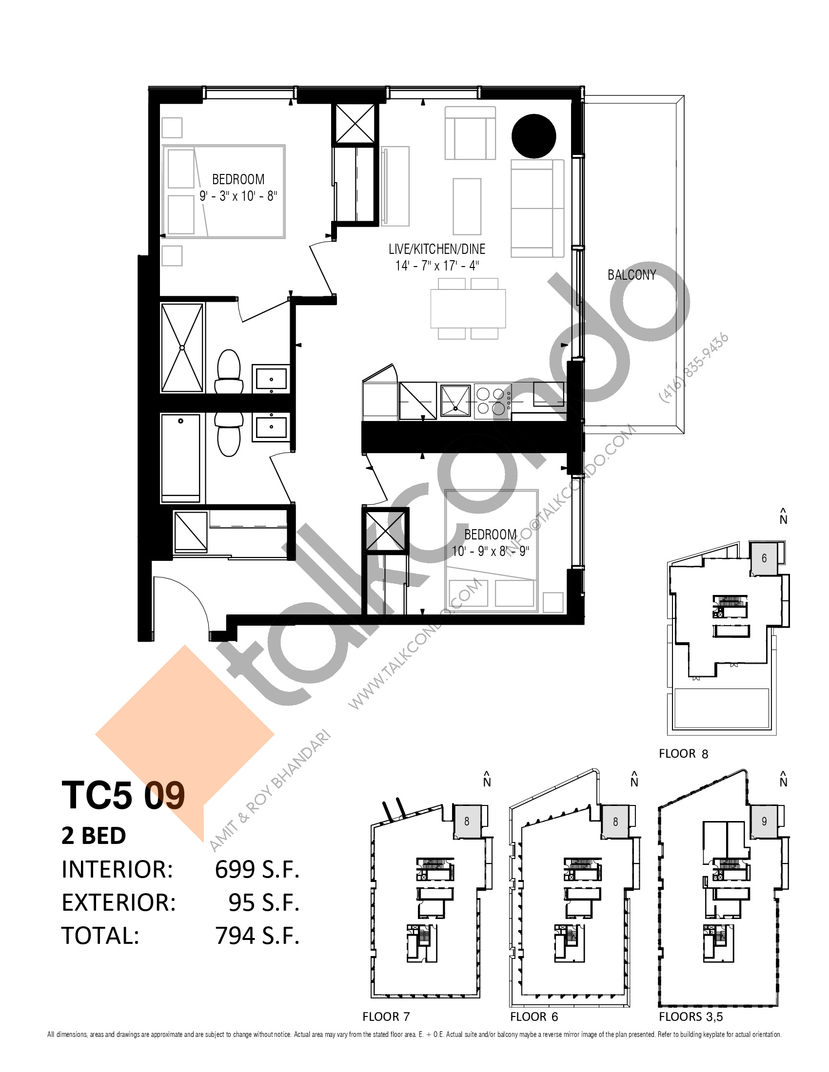 TC5 09 Floor Plan at Transit City 5 (TC5) Condos - 699 sq.ft