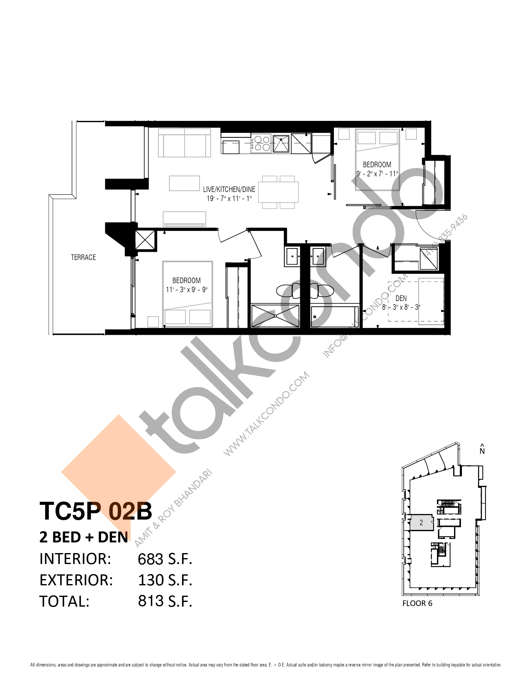 TC5P 02B Floor Plan at Transit City 5 (TC5) Condos - 683 sq.ft