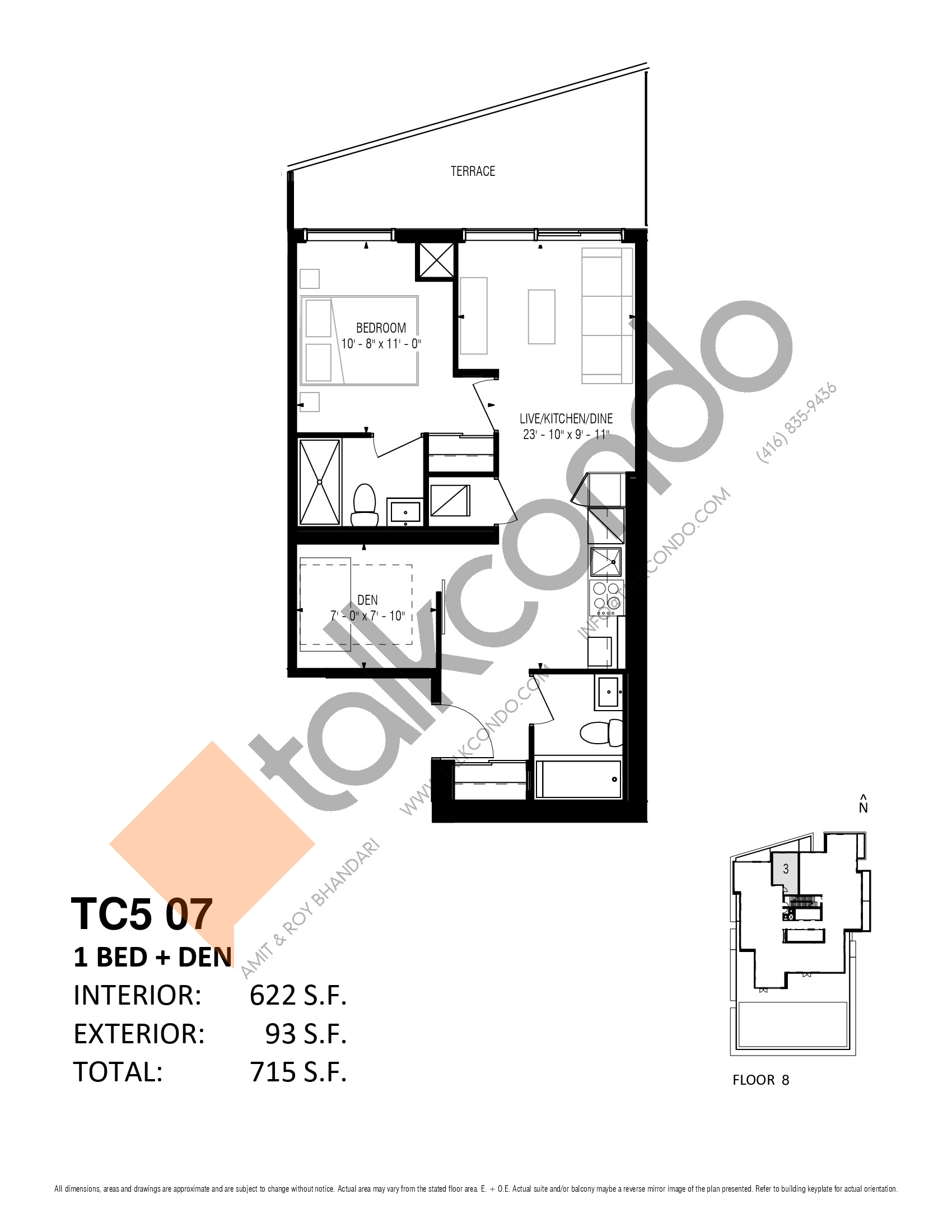 TC5 07 Floor Plan at Transit City 5 (TC5) Condos - 622 sq.ft
