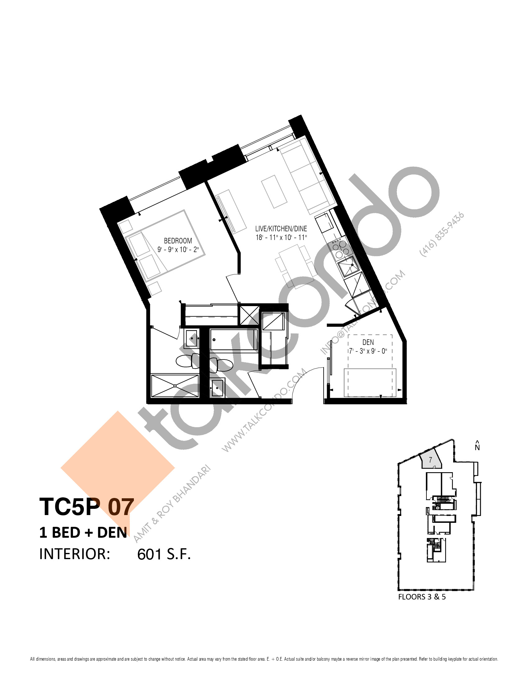 TC5P 07 (Podium) Floor Plan at Transit City 5 (TC5) Condos - 601 sq.ft
