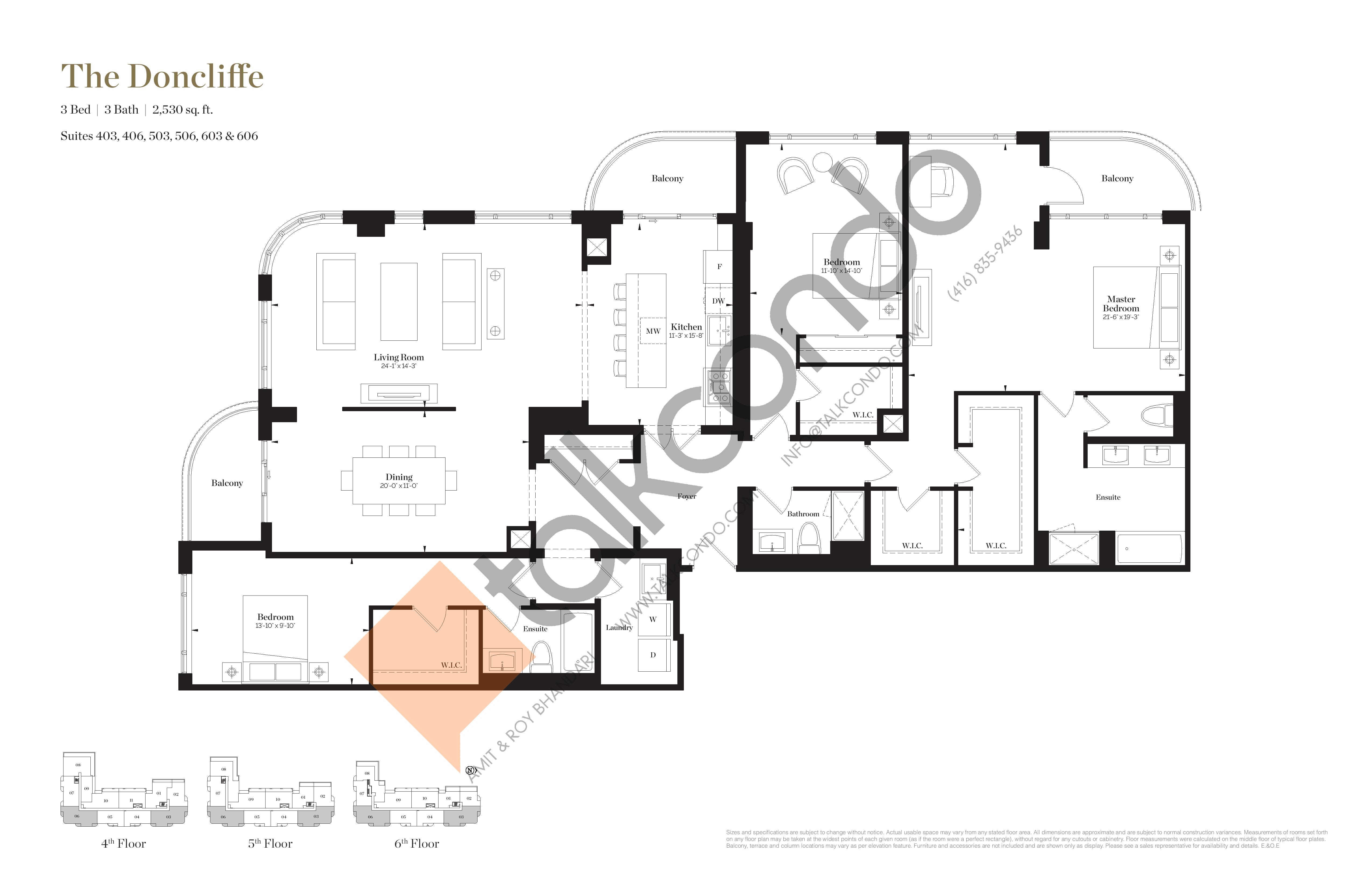 The Doncliffe Floor Plan at Empire Maven Condos - 2530 sq.ft