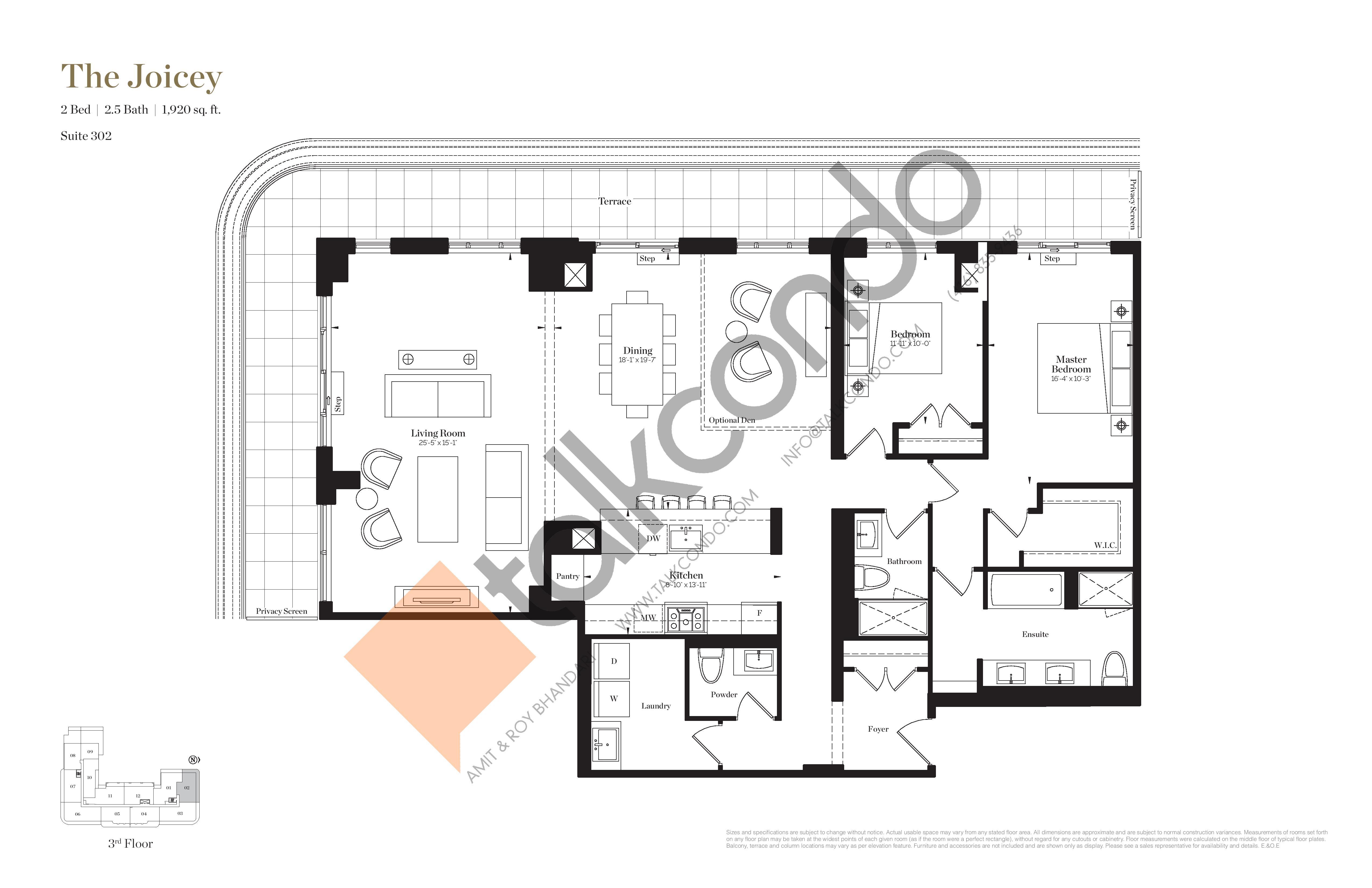 The Joicey Floor Plan at Empire Maven Condos - 1920 sq.ft
