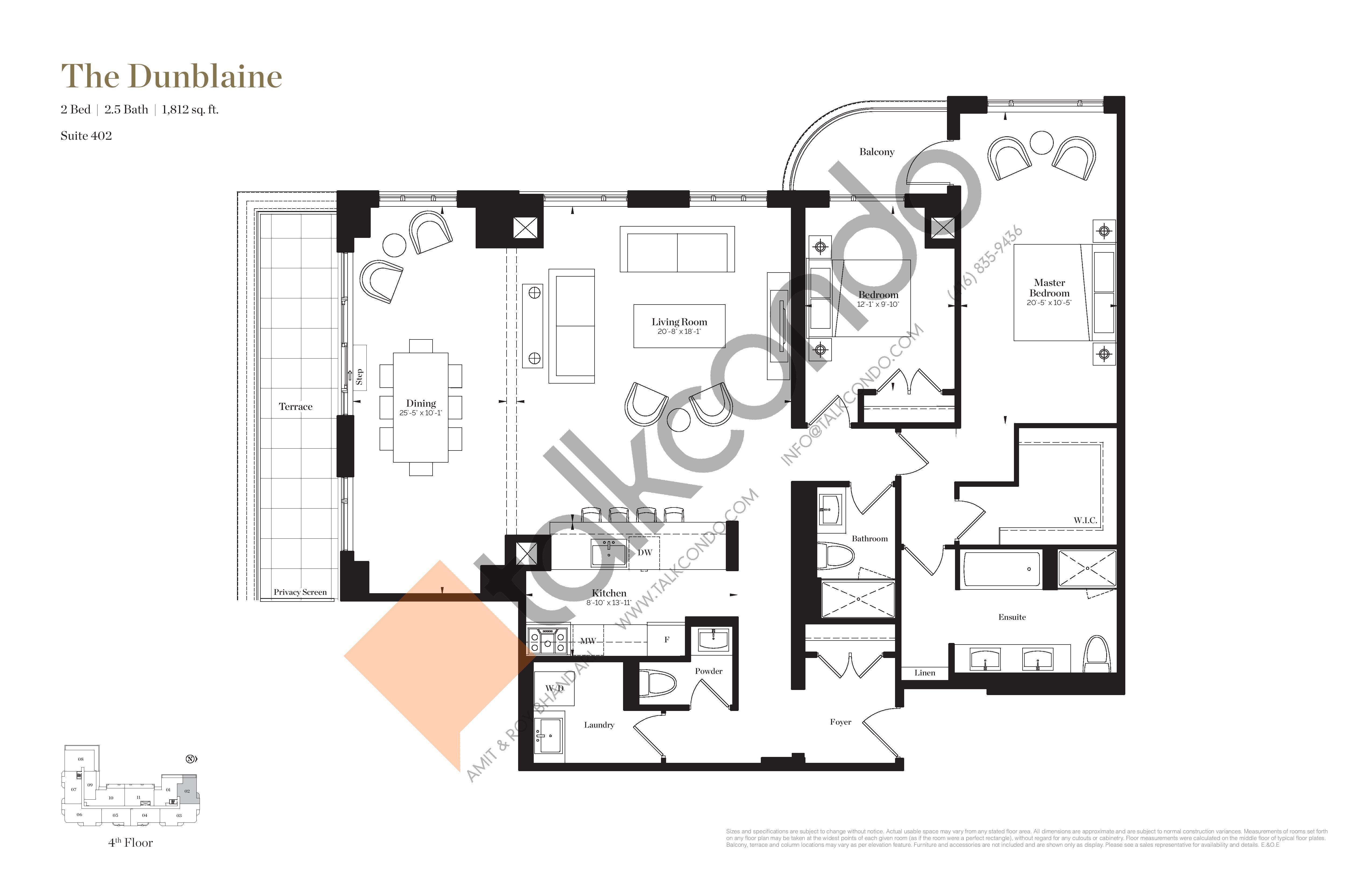 The Dunblaine Floor Plan at Empire Maven Condos - 1812 sq.ft