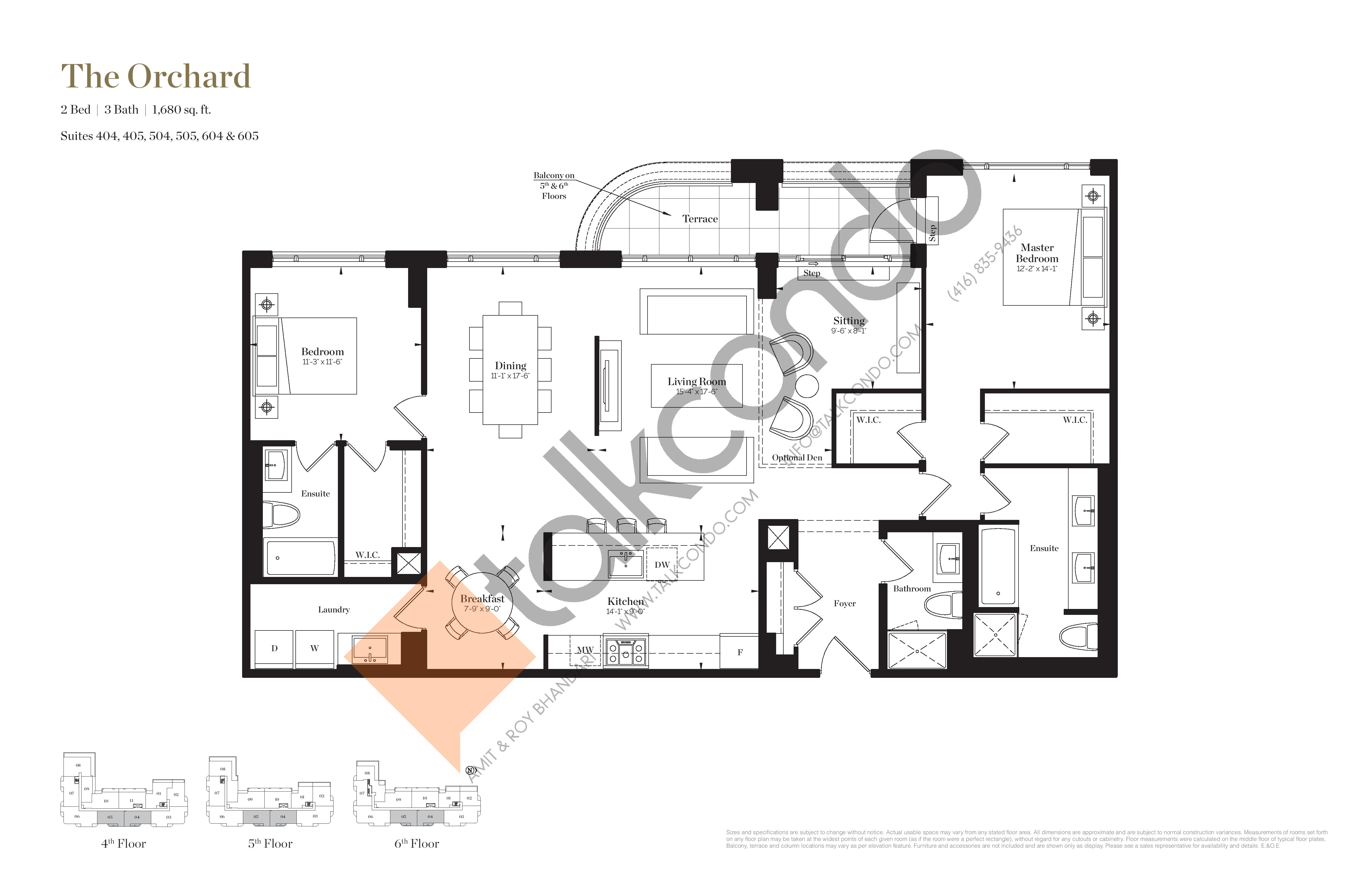 The Orchard Floor Plan at Empire Maven Condos - 1680 sq.ft