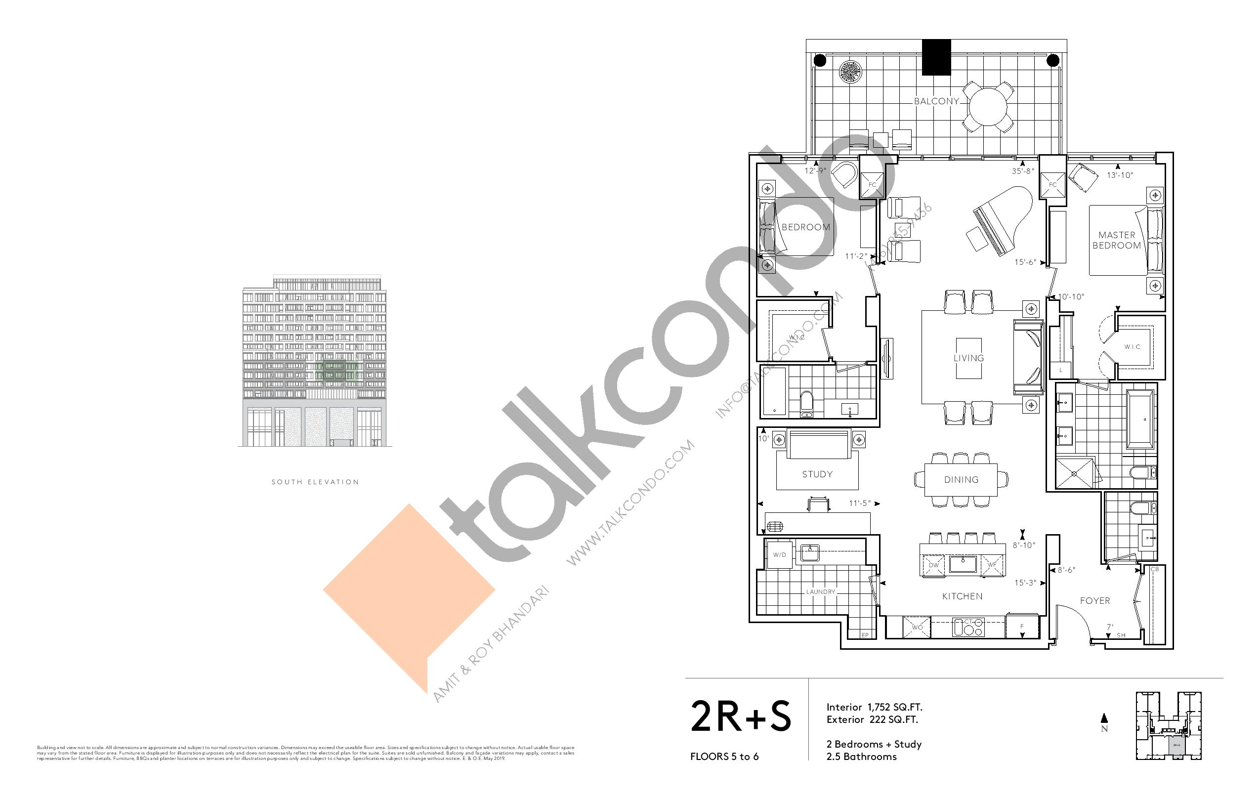 2R+S - Signature Series Floor Plan at Tridel at The Well Condos - 1752 sq.ft