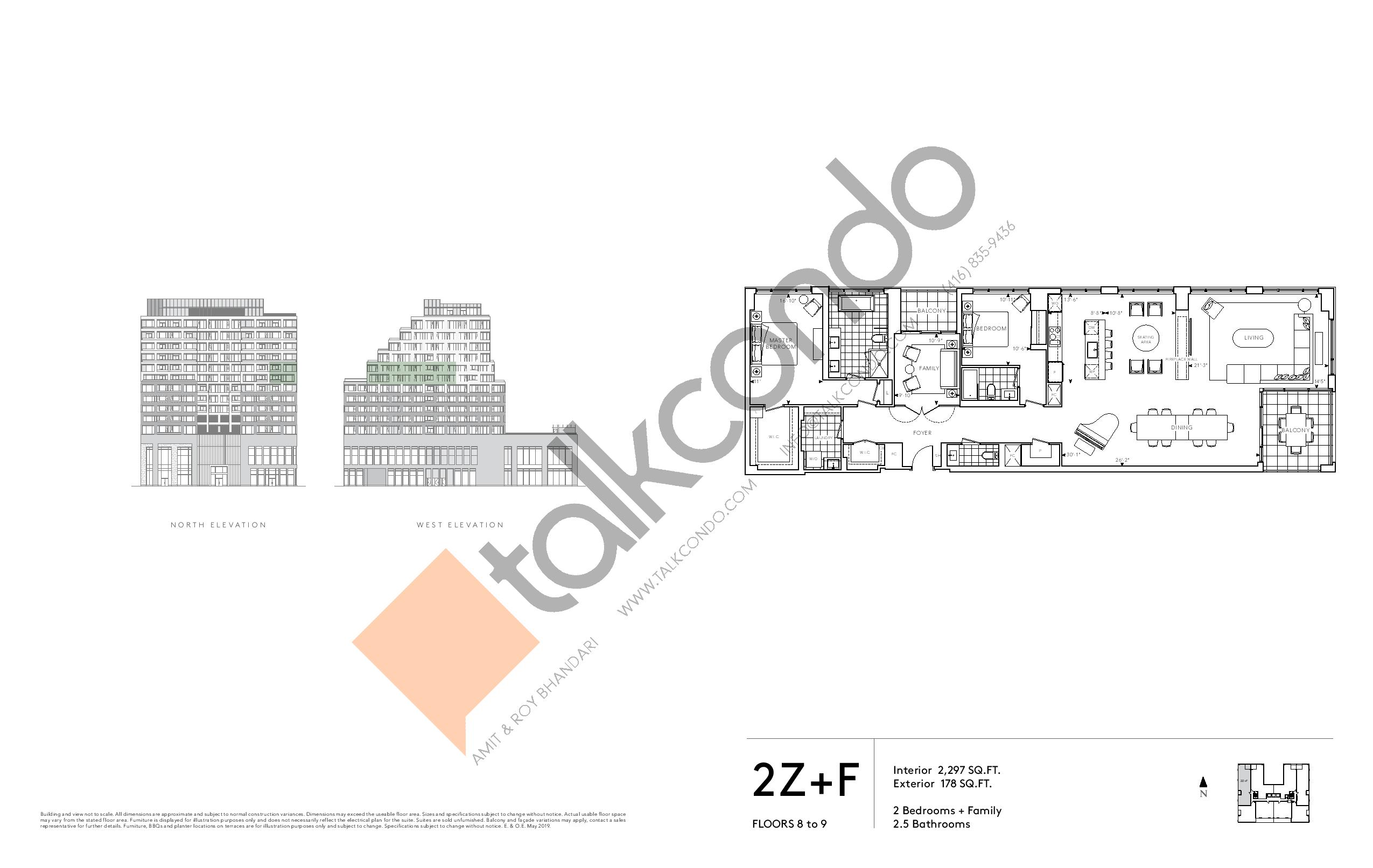 2Z+F - Signature Series Floor Plan at Tridel at The Well Condos - 2297 sq.ft