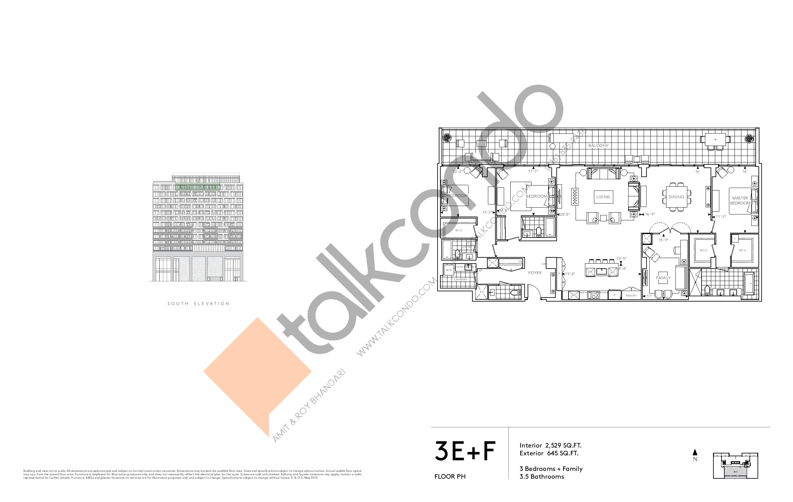 3E+F - Signature Series Floor Plan at Tridel at The Well Condos - 2529 sq.ft