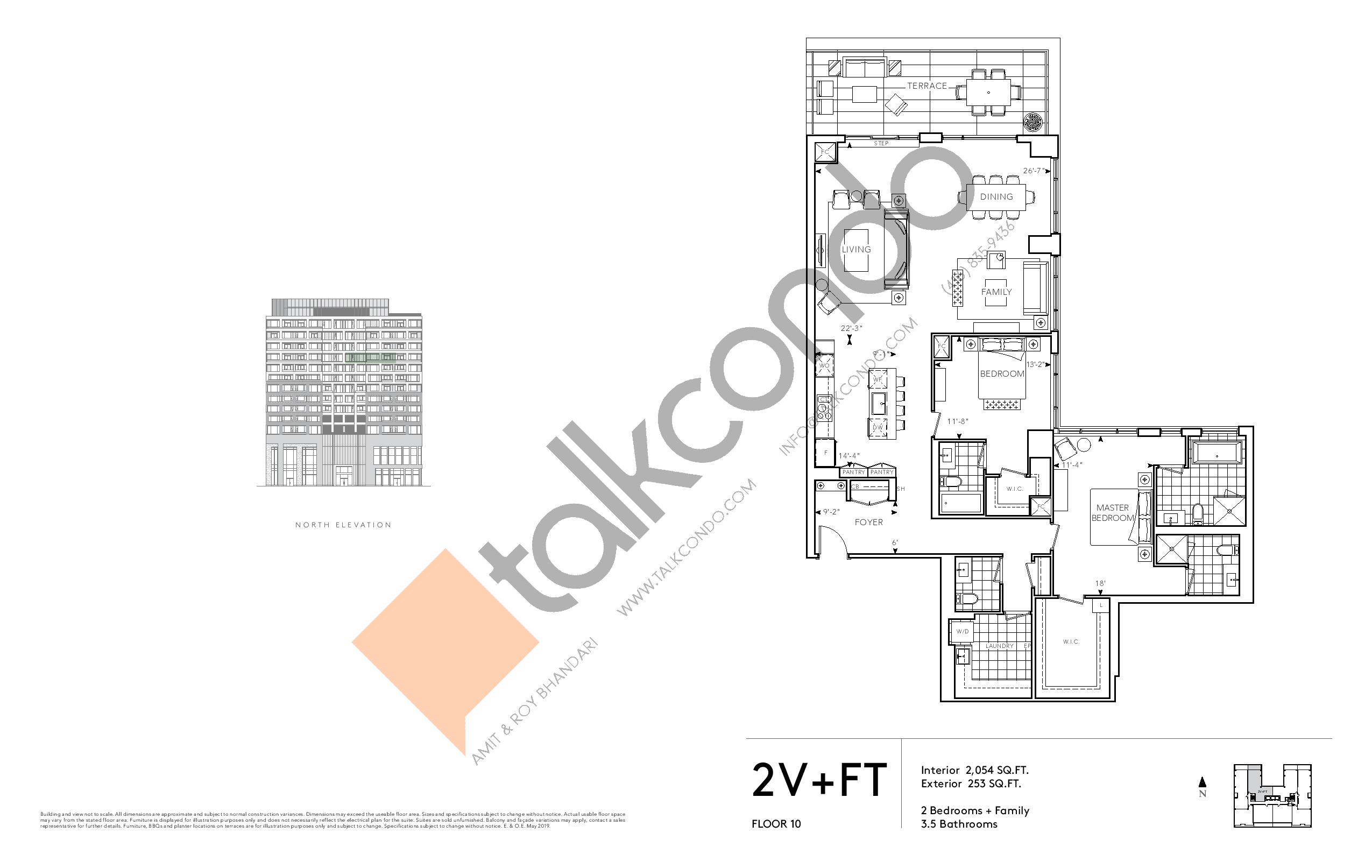 2V+FT - Signature Series Floor Plan at Tridel at The Well Condos - 2054 sq.ft