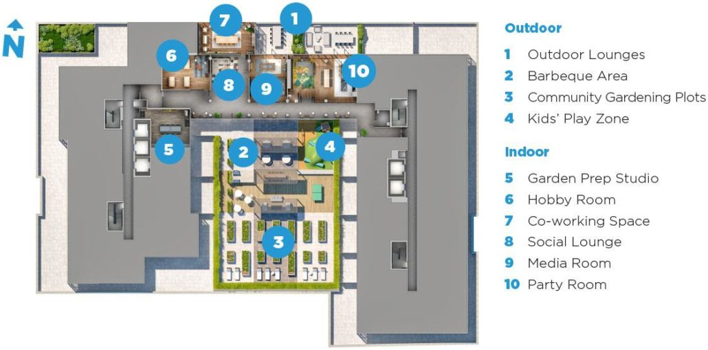 DuEast Boutique Amenity Floor Plan