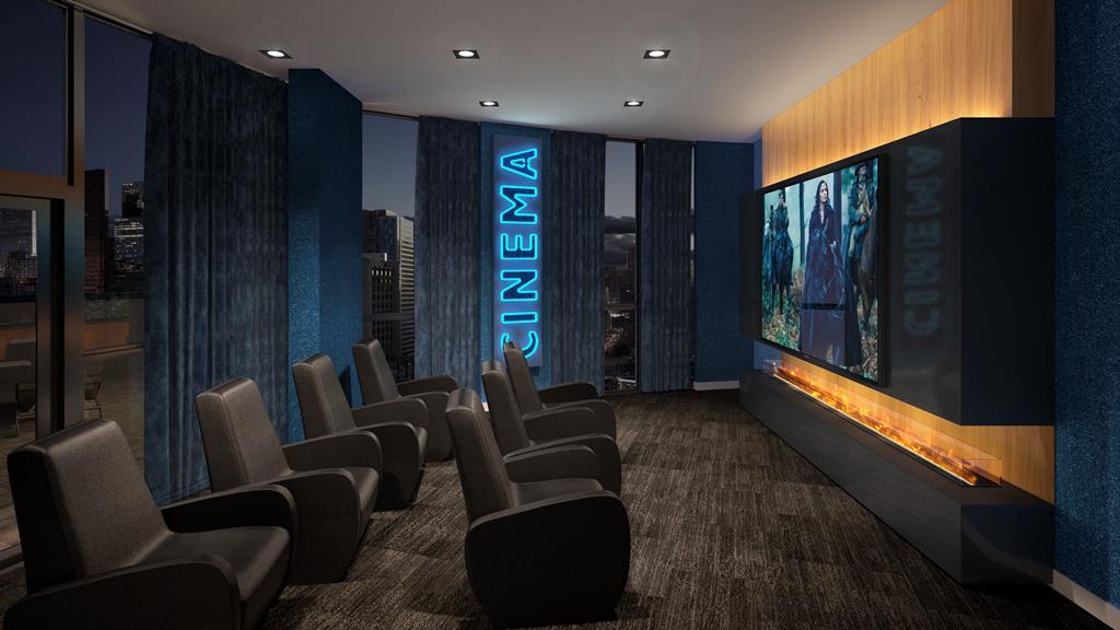 in.DE Condos Theatre Room