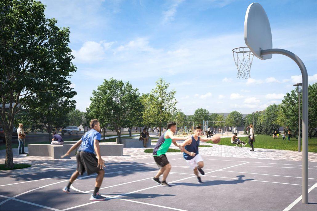 Mobilio Condos South Tower Basketball Court