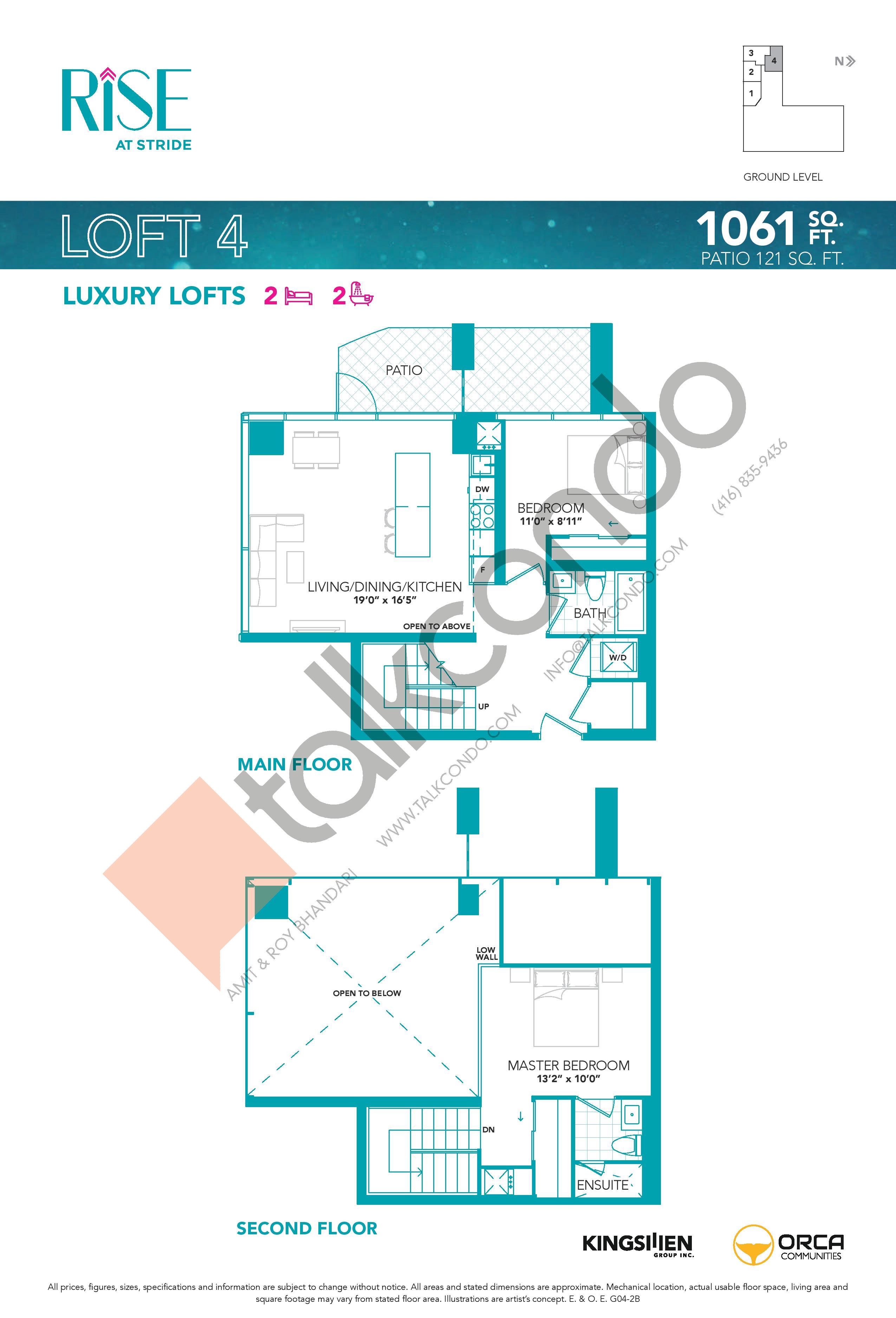 Loft 4 Floor Plan at Rise at Stride Condos - 1061 sq.ft