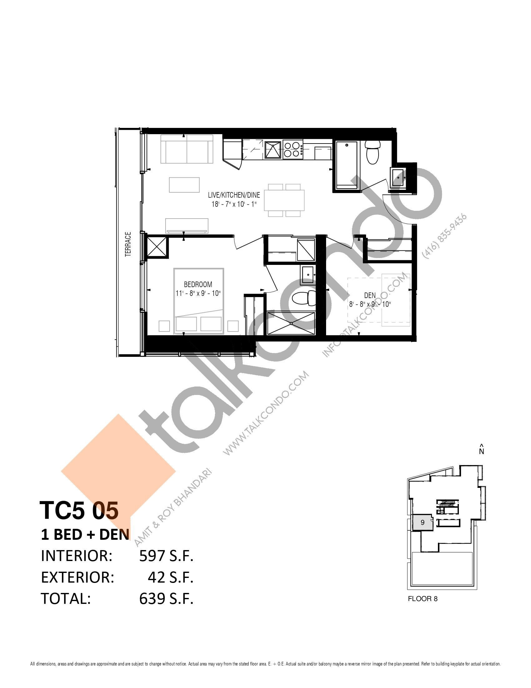 TC5 05 Floor Plan at Transit City 5 (TC5) Condos - 597 sq.ft