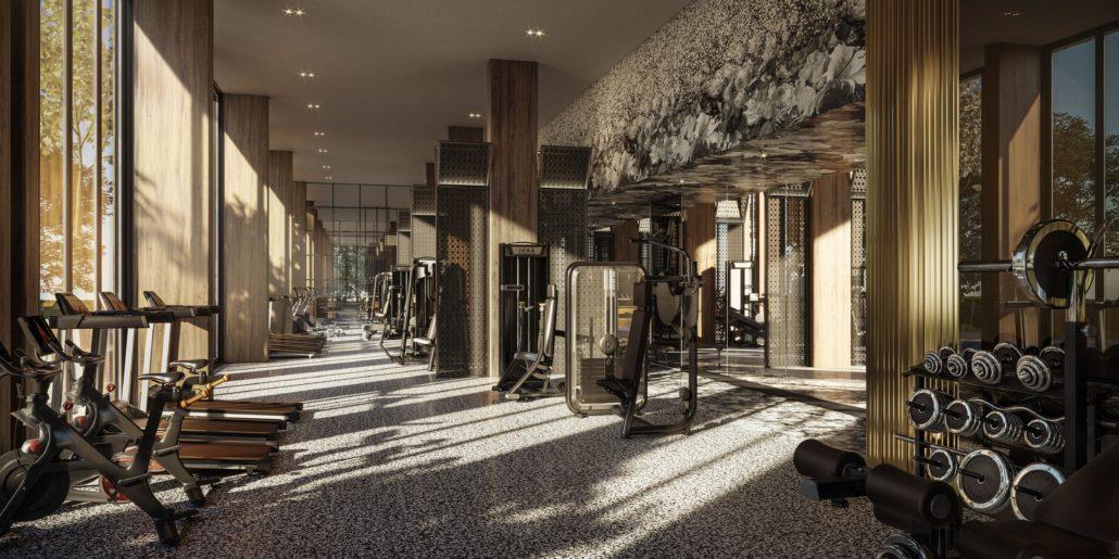 Distrikt Trailside Condos Gym