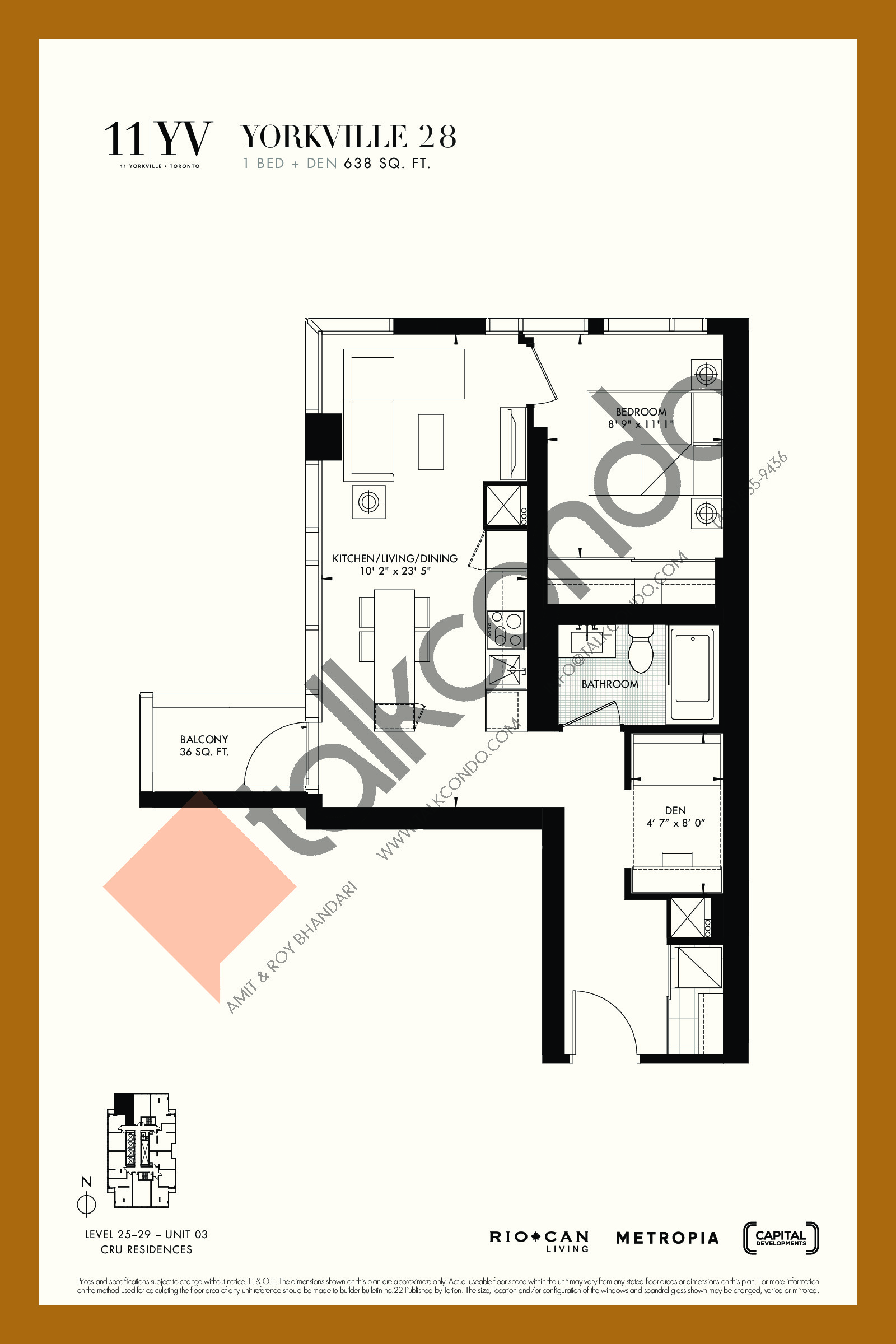 Yorkville 28 Floor Plan at 11YV Condos - 638 sq.ft