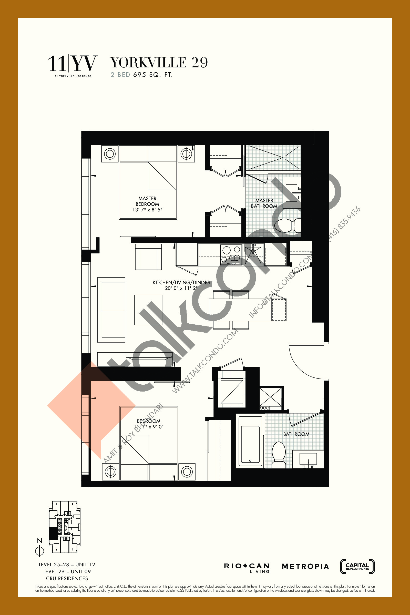 Yorkville 29 Floor Plan at 11YV Condos - 695 sq.ft