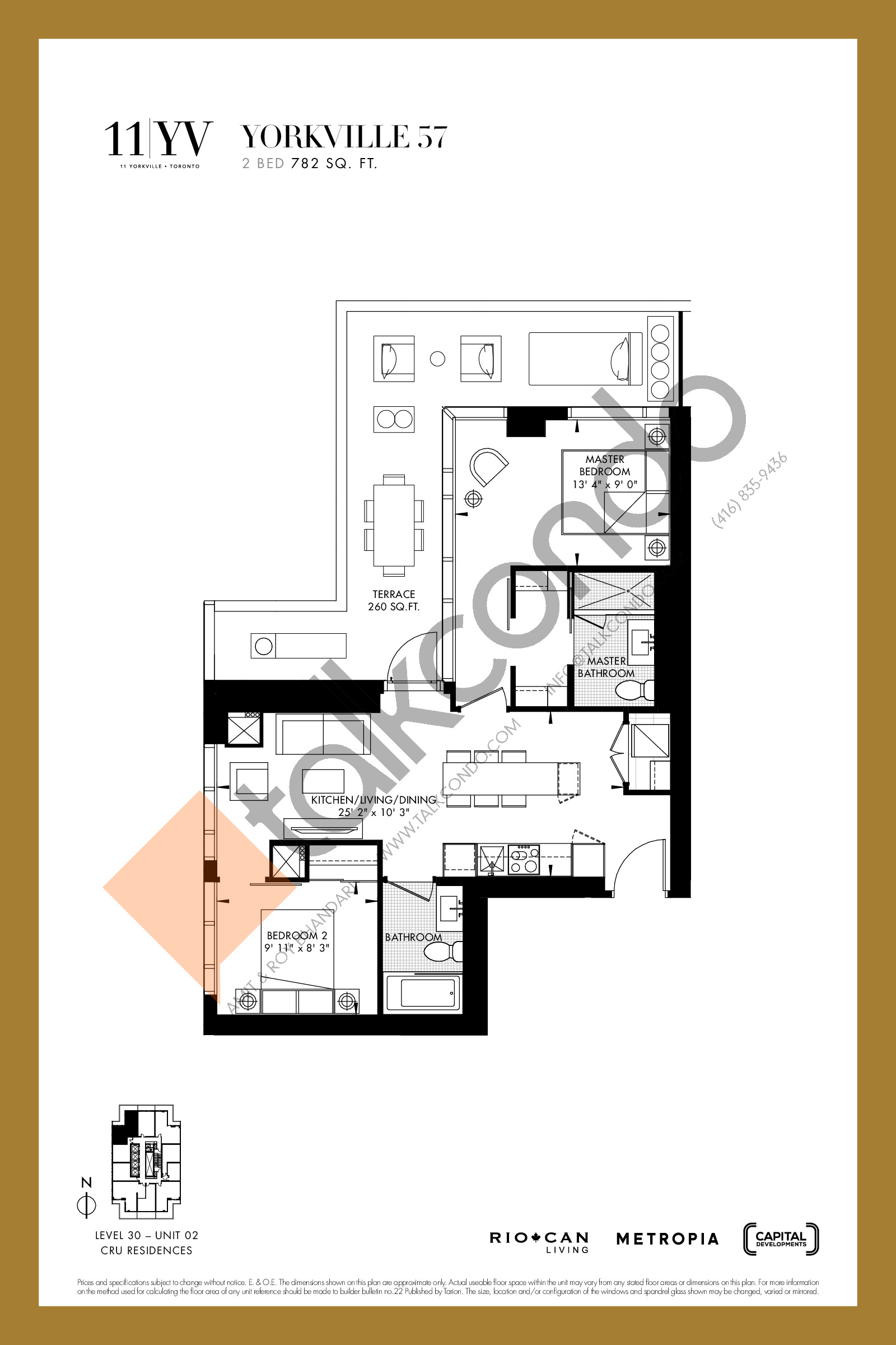 Yorkville 57 Floor Plan at 11YV Condos - 782 sq.ft