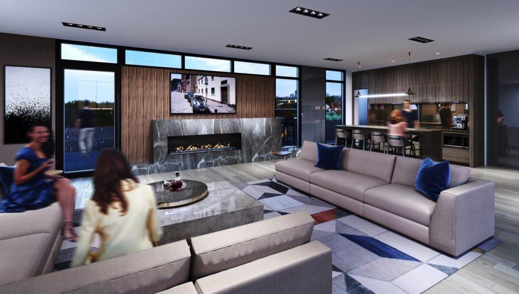 Monza Condos Rooftop Lounge Rendering