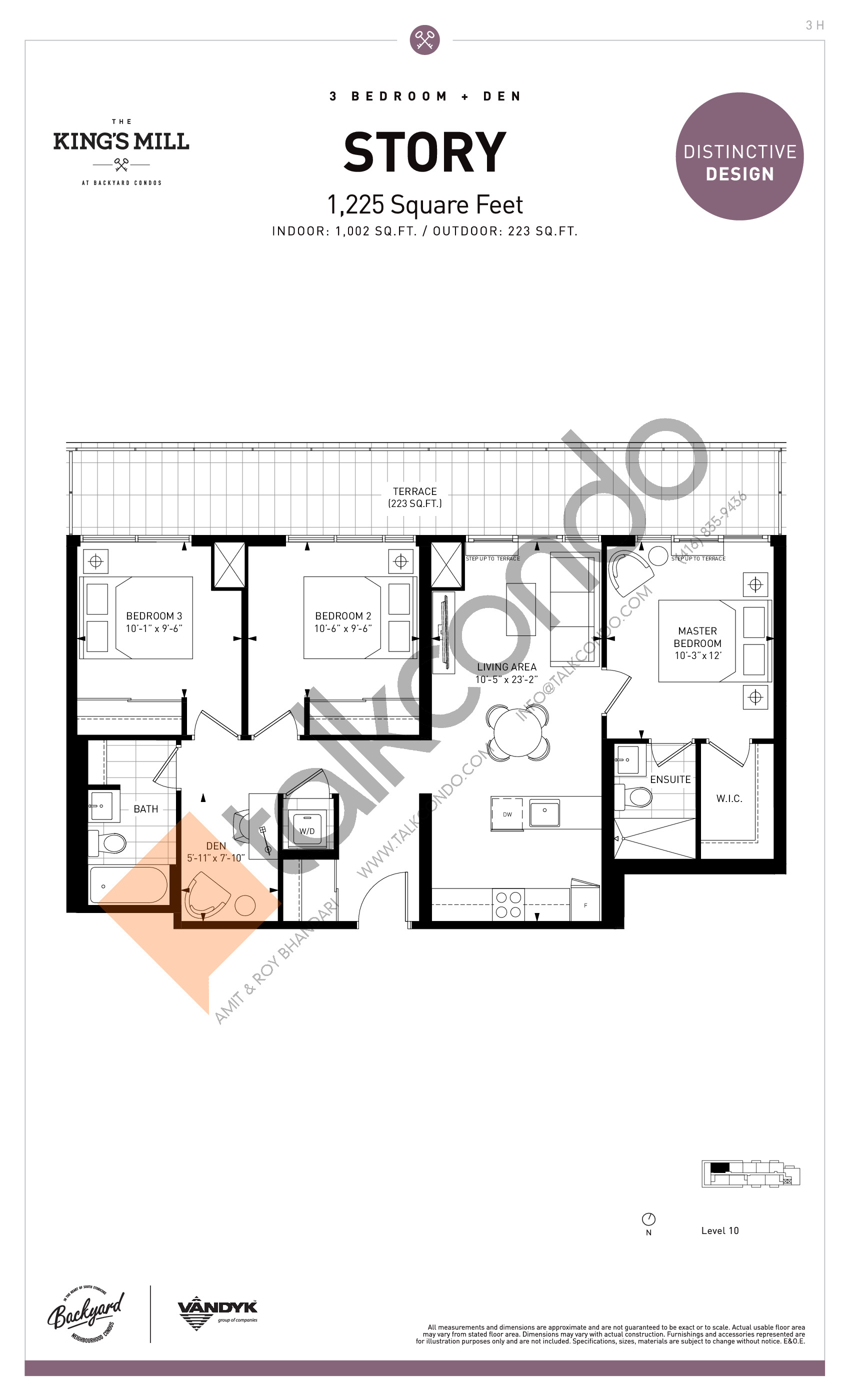 Story Floor Plan at The King's Mill Condos - 1002 sq.ft