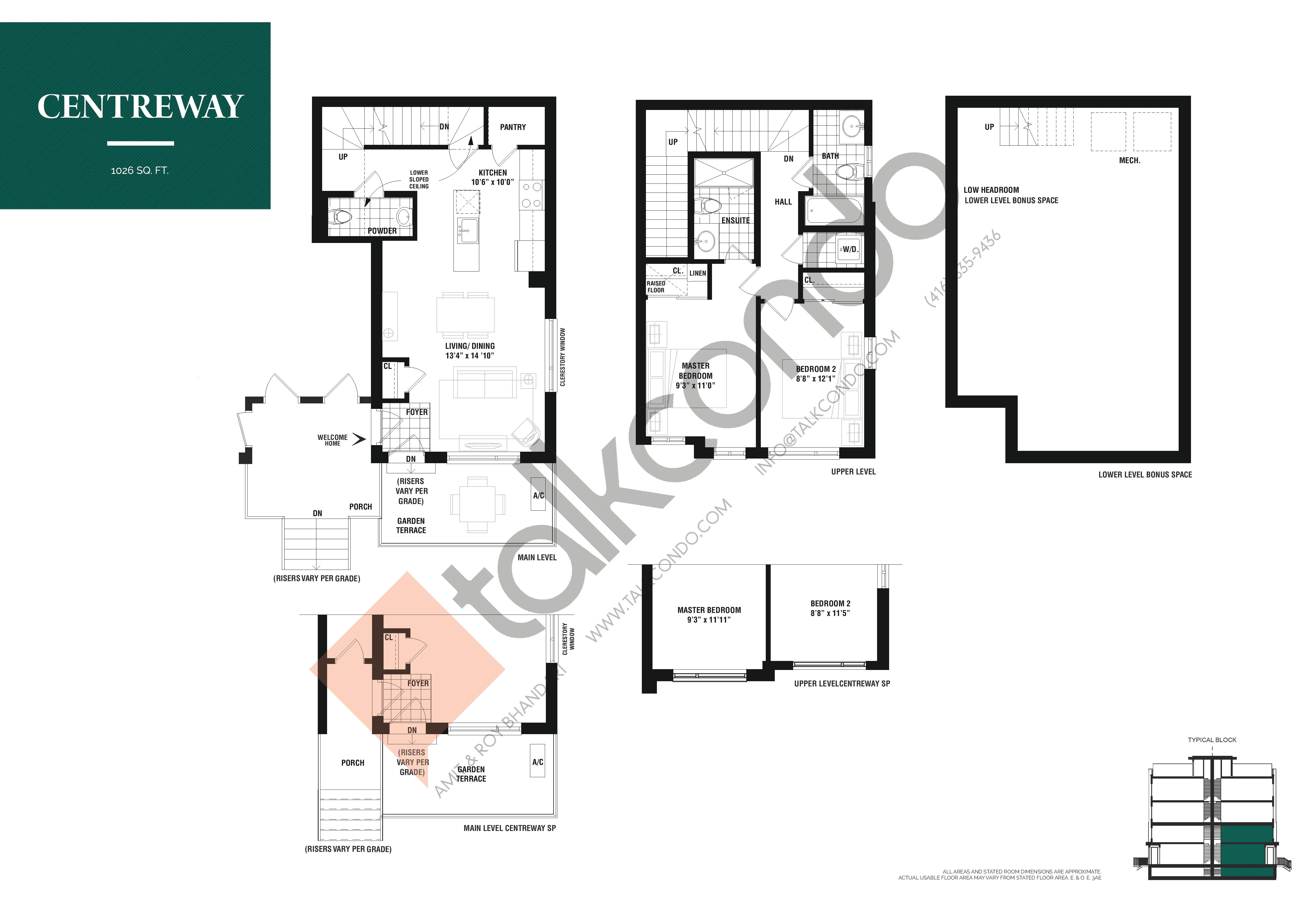 Centreway Floor Plan at The Way Urban Towns - 1026 sq.ft