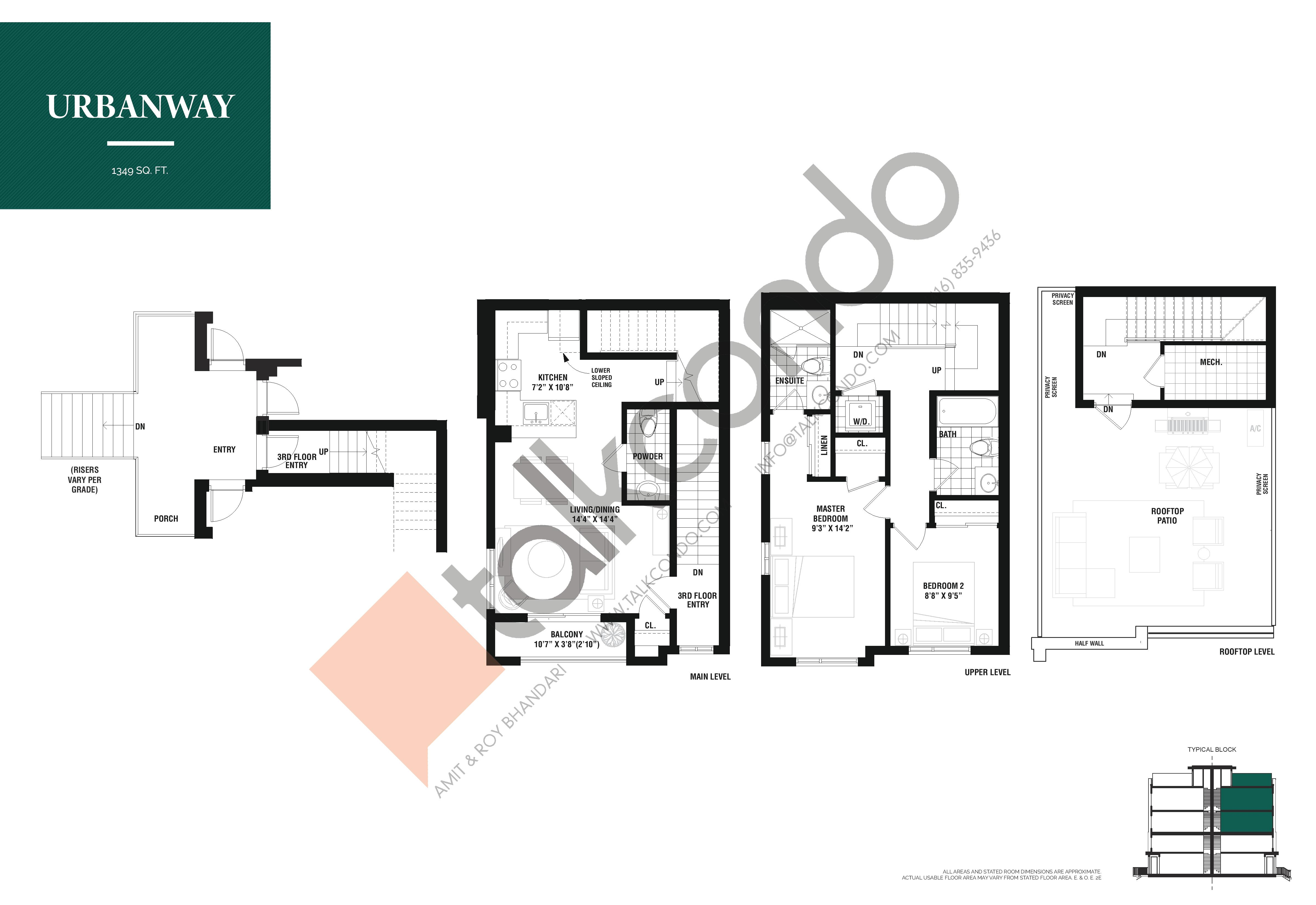 Urbanway Floor Plan at The Way Urban Towns - 1349 sq.ft