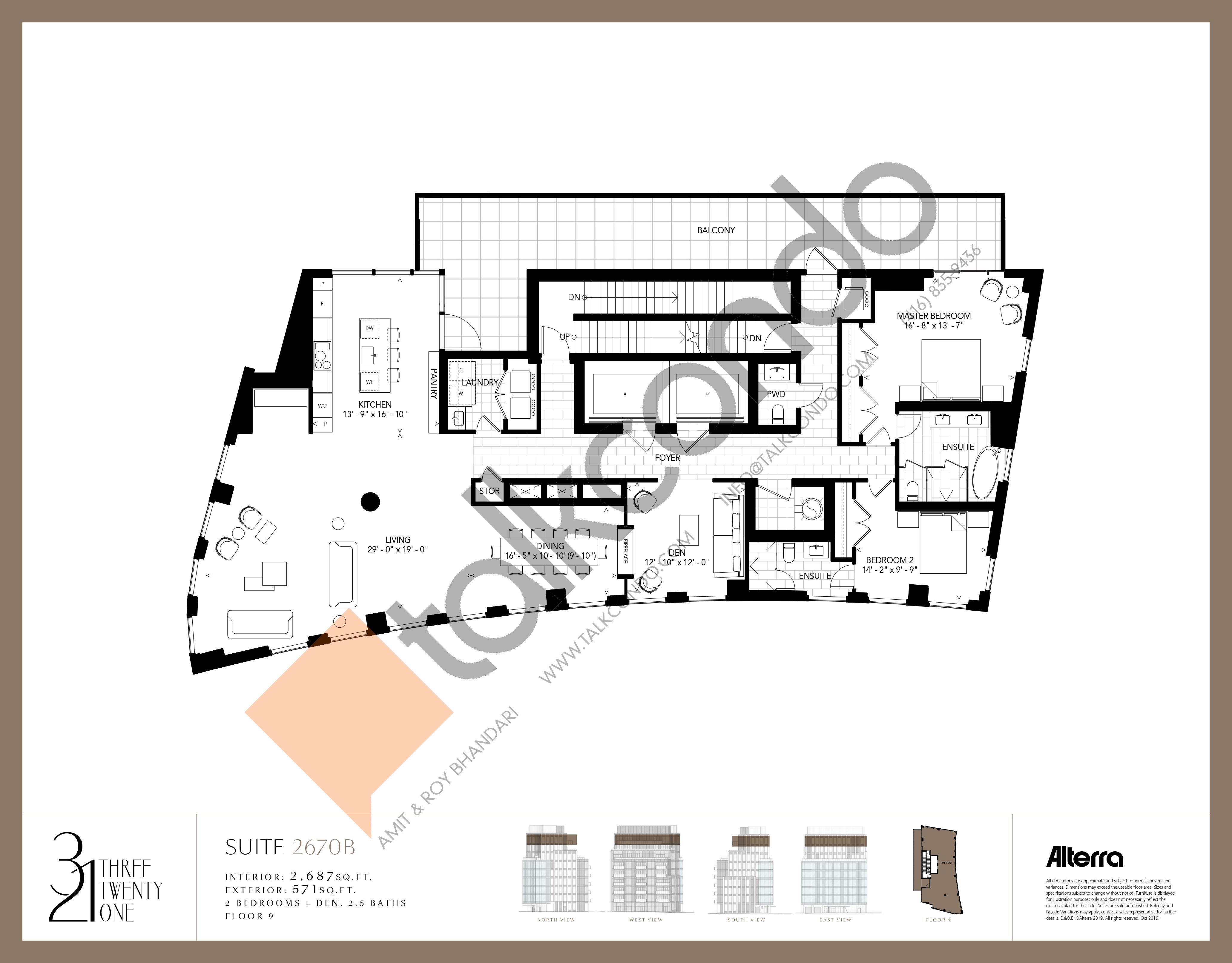2670B Floor Plan at 321 Davenport Condos - 2687 sq.ft