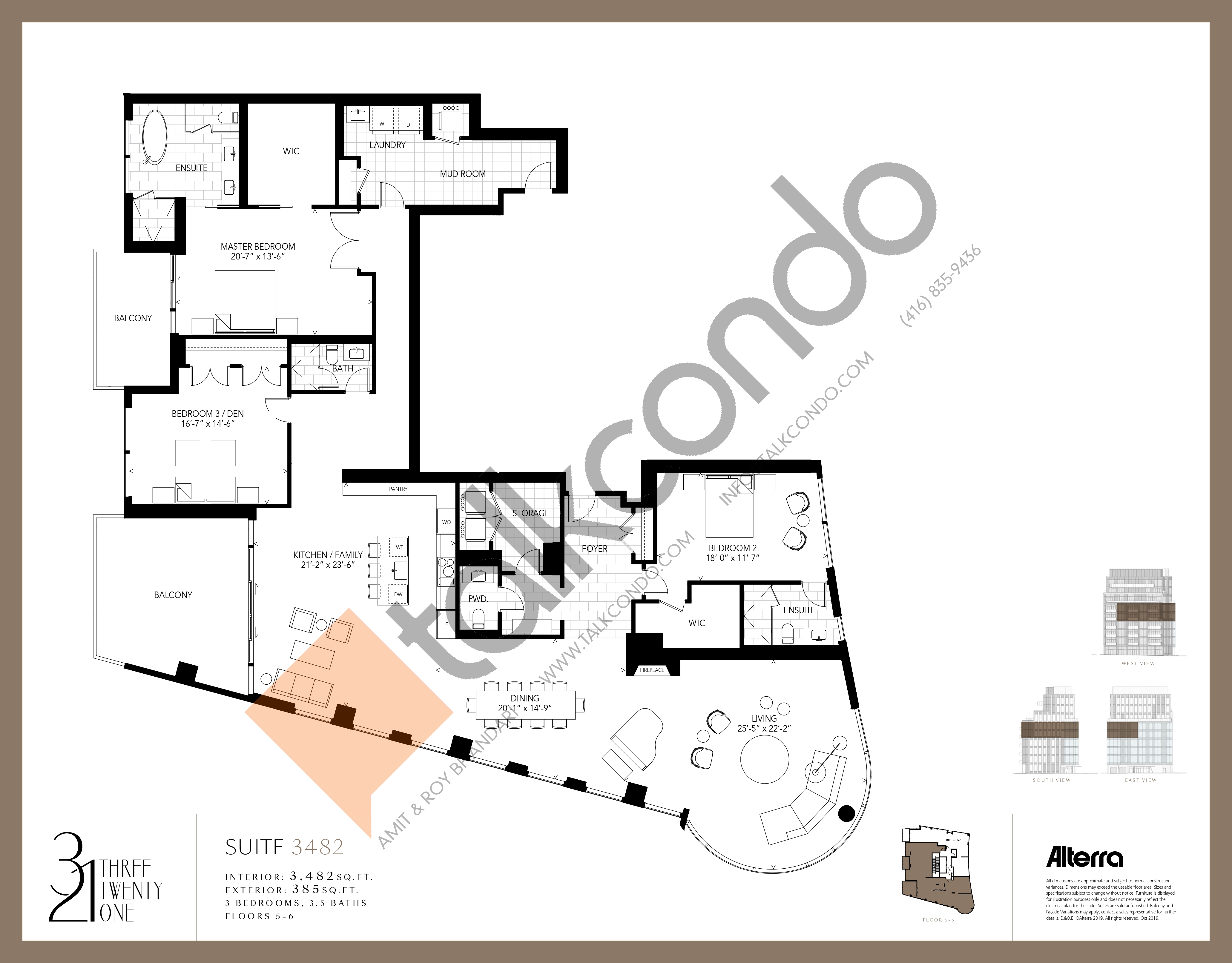 3482 Floor Plan at 321 Davenport Condos - 3482 sq.ft