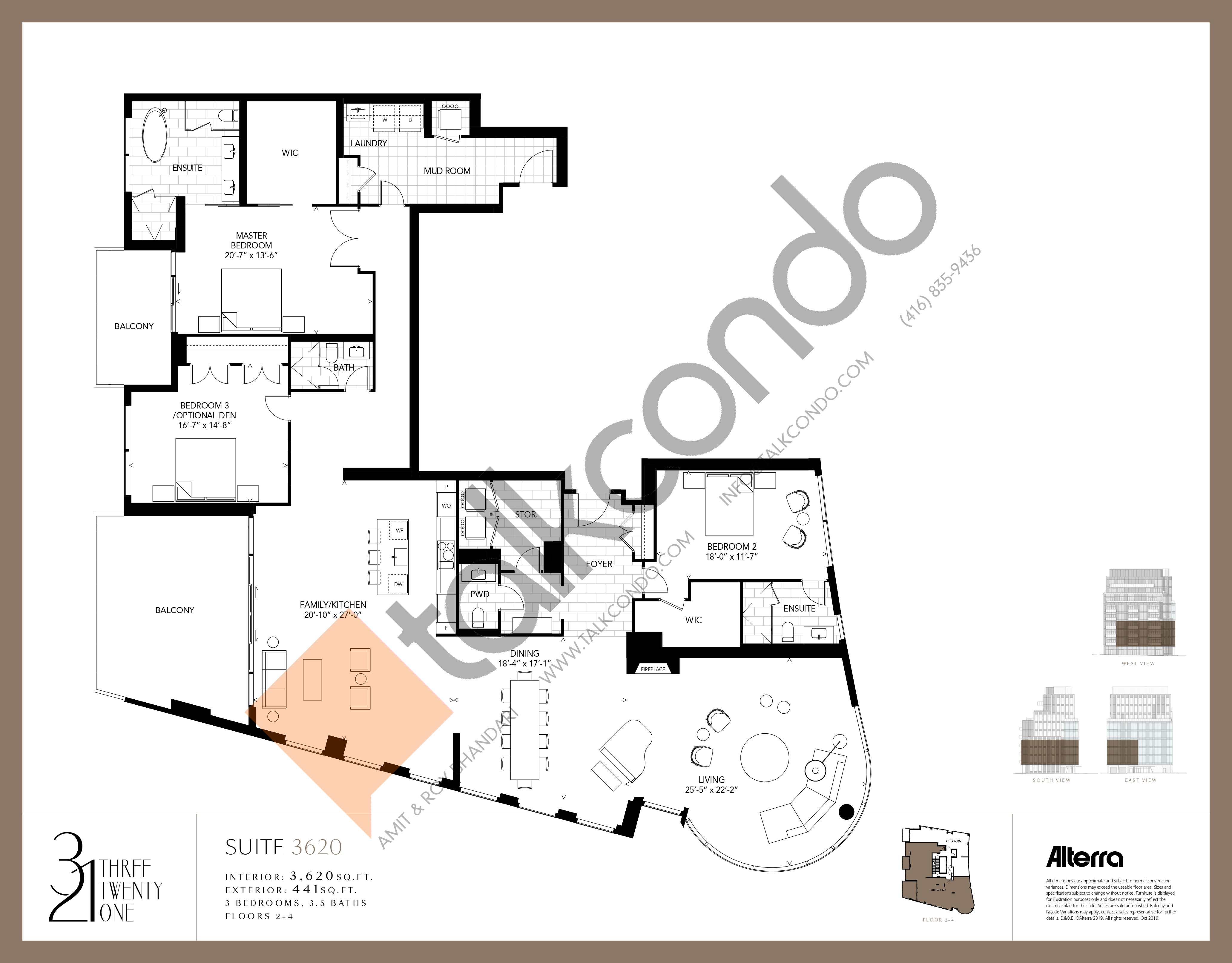 3620 Floor Plan at 321 Davenport Condos - 3620 sq.ft