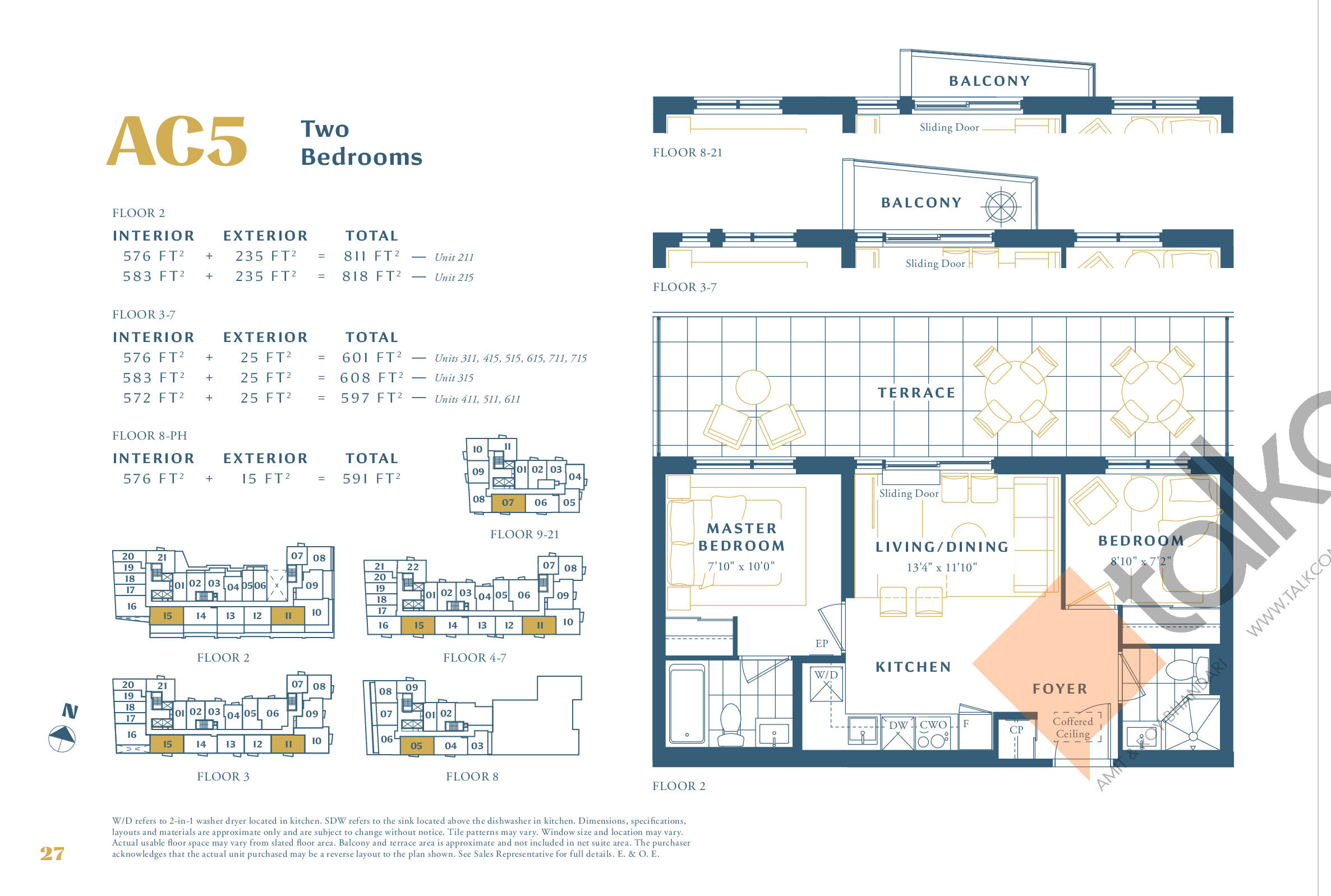 AC5 Floor Plan at The Borough Condos - Tower A - 583 sq.ft