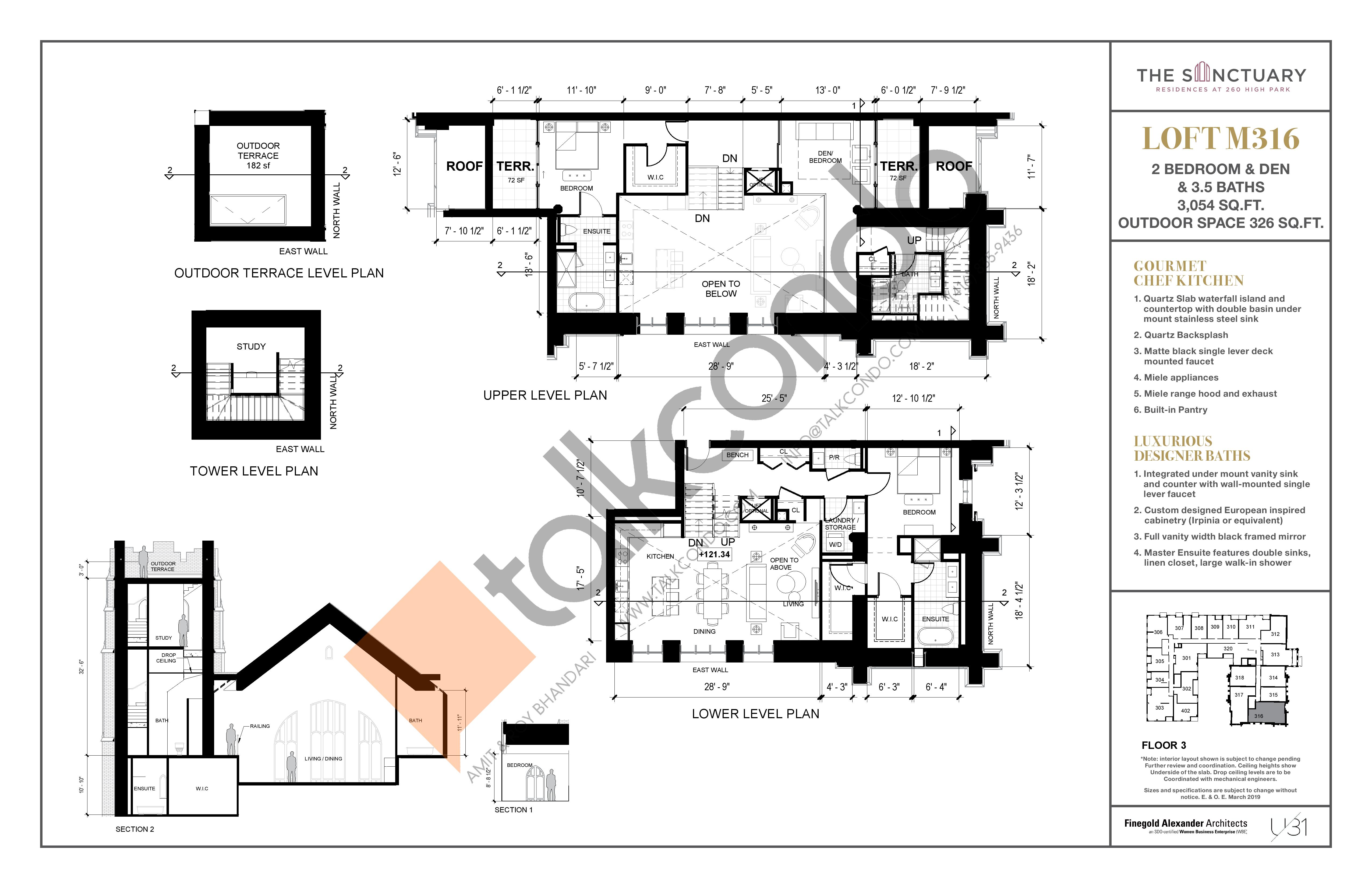Loft M316 Floor Plan at 260 High Park - 3054 sq.ft