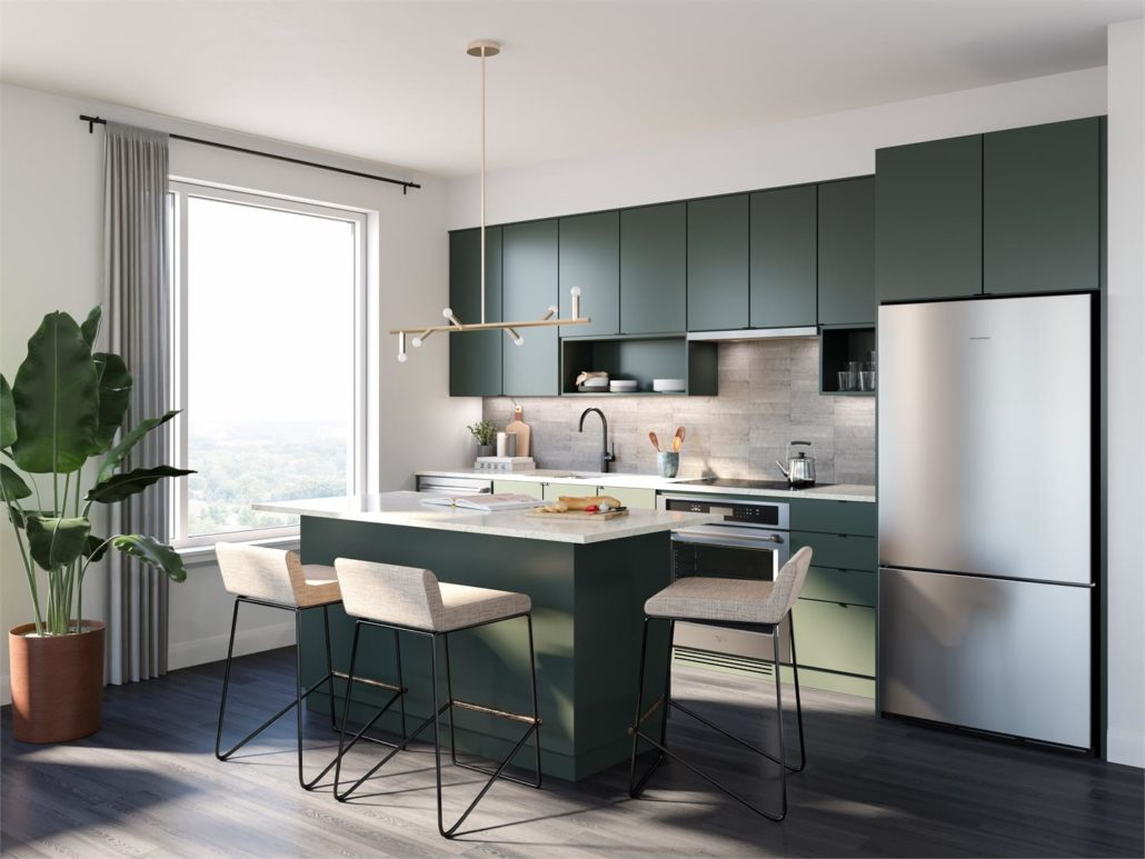 Upper West Side Condos at Oakvillage Suite Kitchen