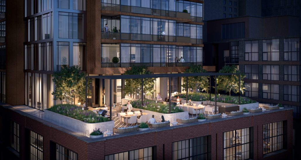 rooftop amenity at 55 mercer condos