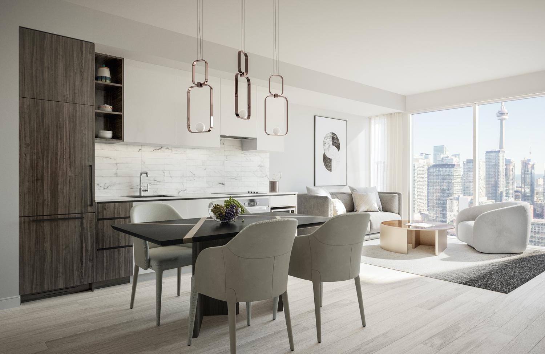 interior suite design for 55 mercer condos