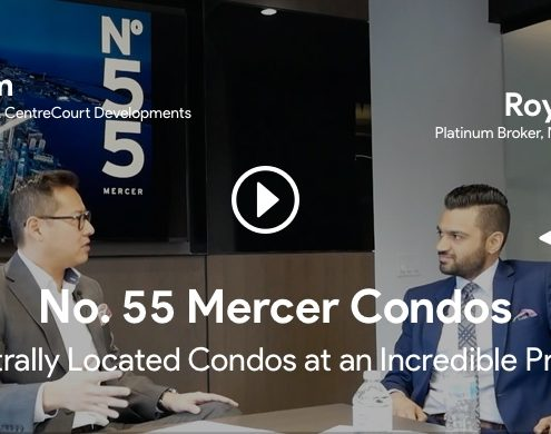 roy bhandari interviewing jason lam for 55 mercer condos