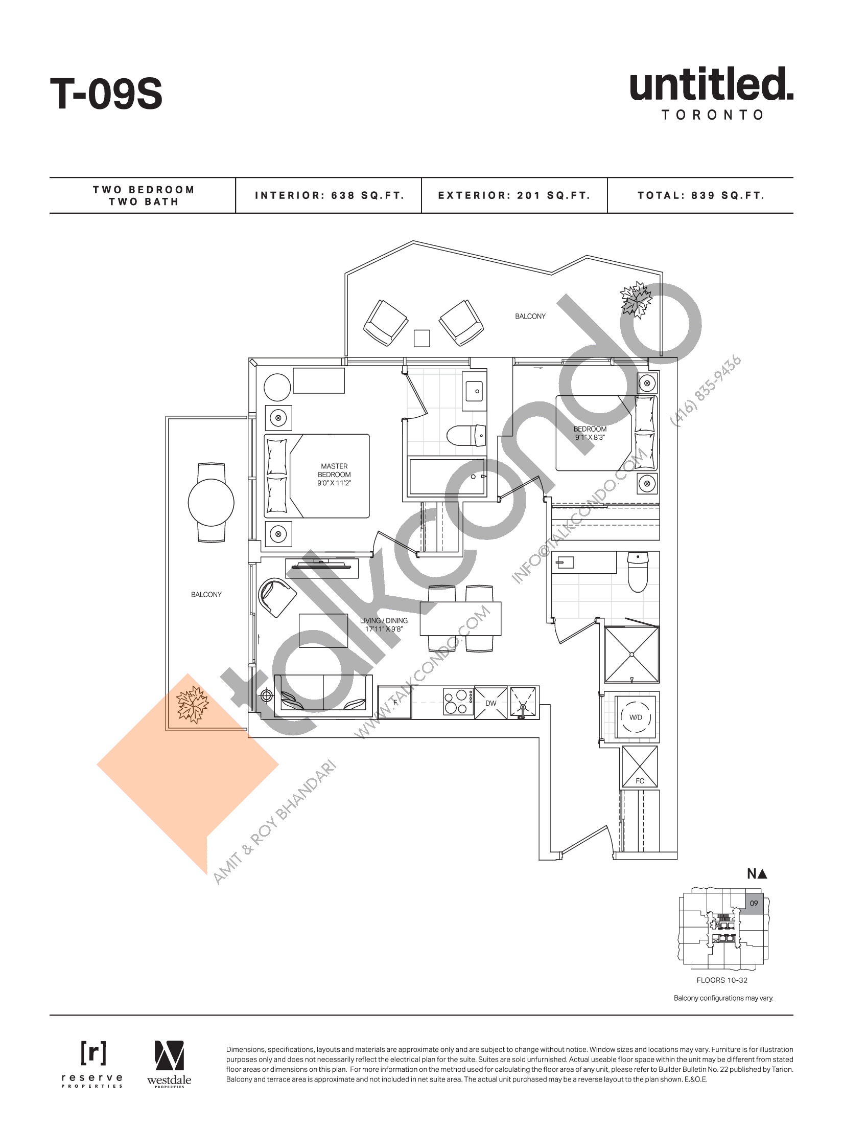 T-09S Floor Plan at Untitled Toronto Condos - 638 sq.ft