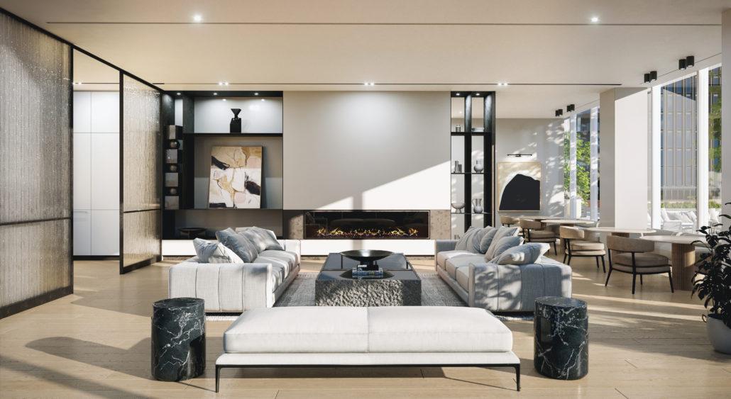 88 Queen Condos Party Room Lounge