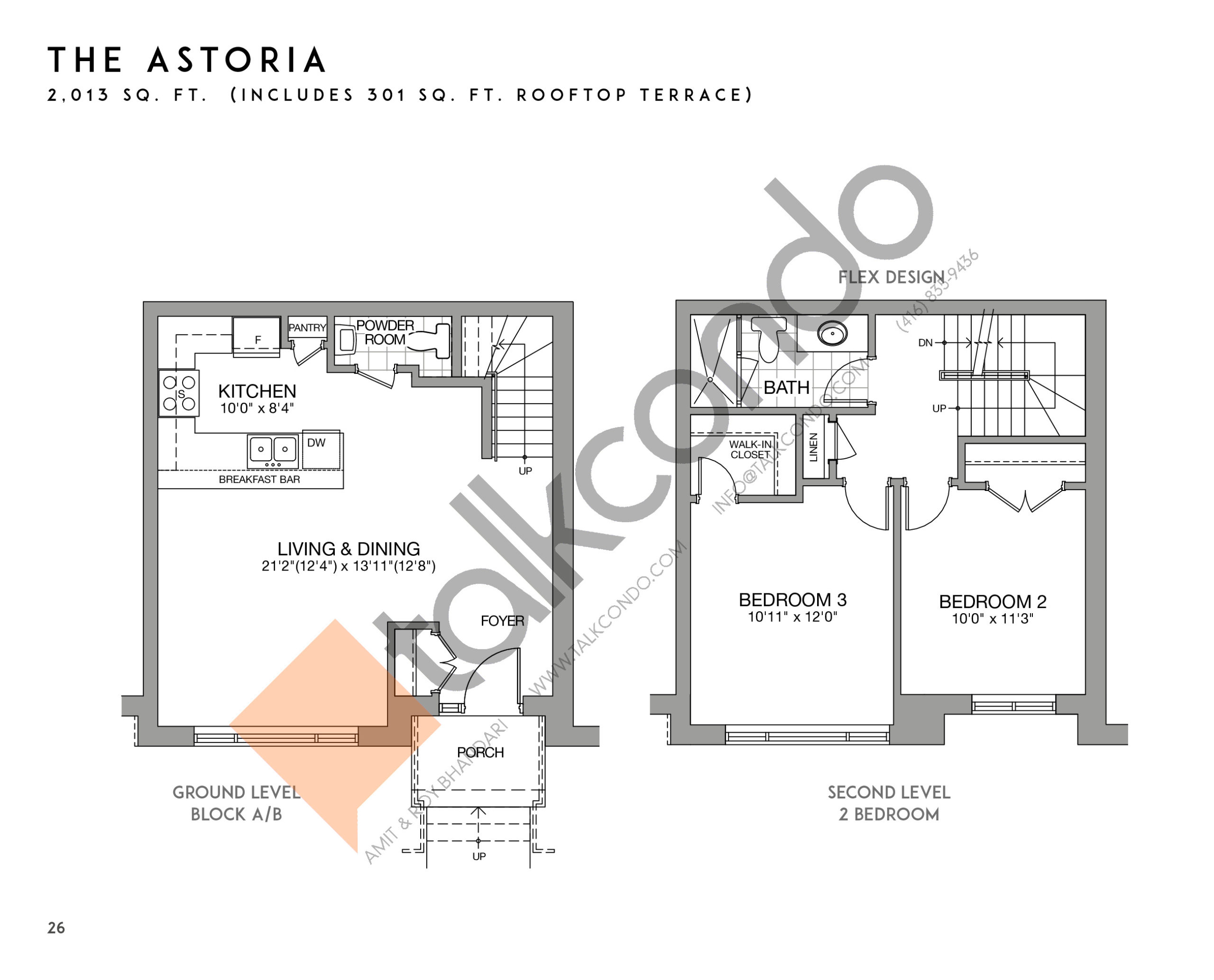 The Astoria (1/2) Floor Plan at Eleven Altamont Towns - 2013 sq.ft