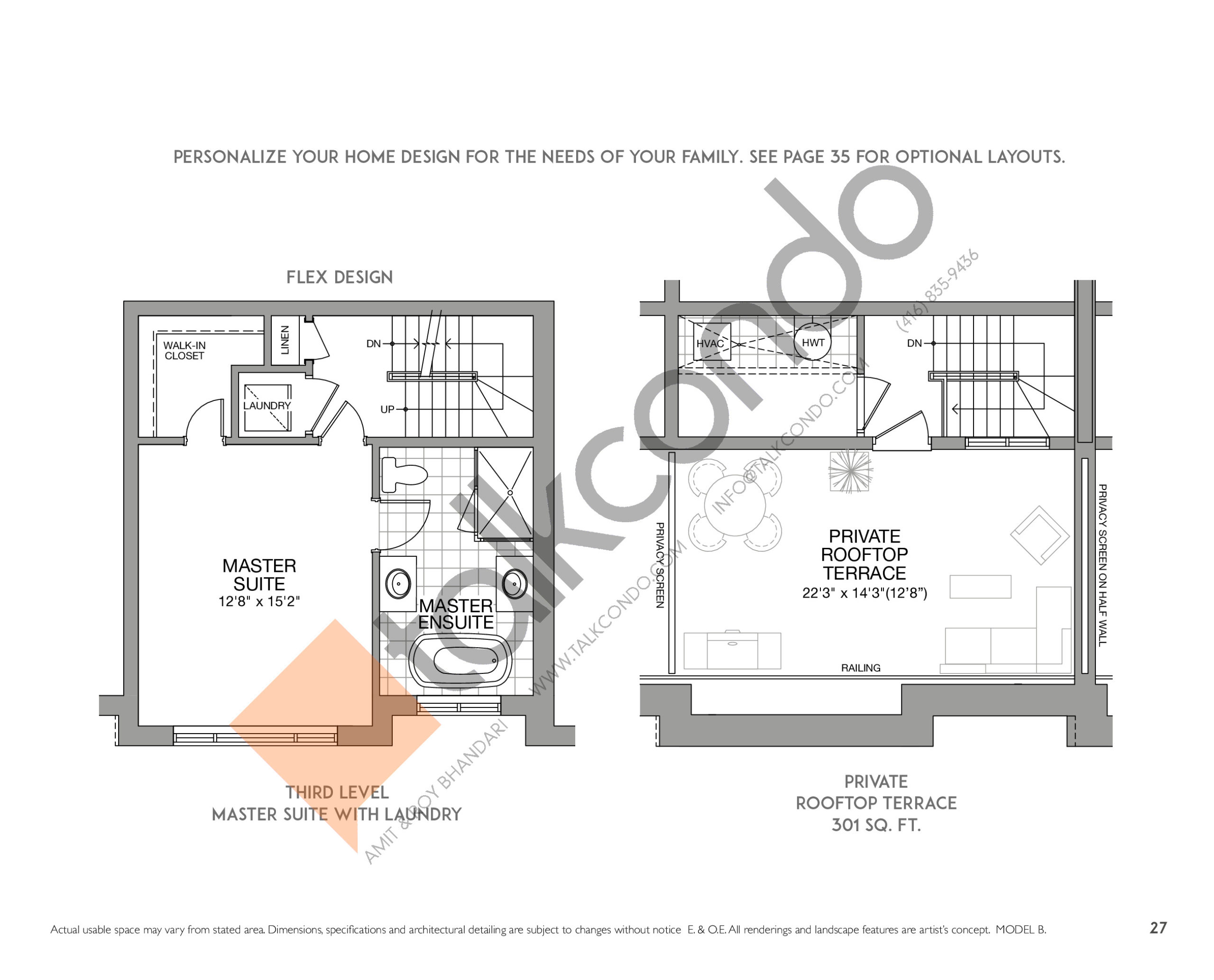 The Astoria (2/2) Floor Plan at Eleven Altamont Towns - 2013 sq.ft