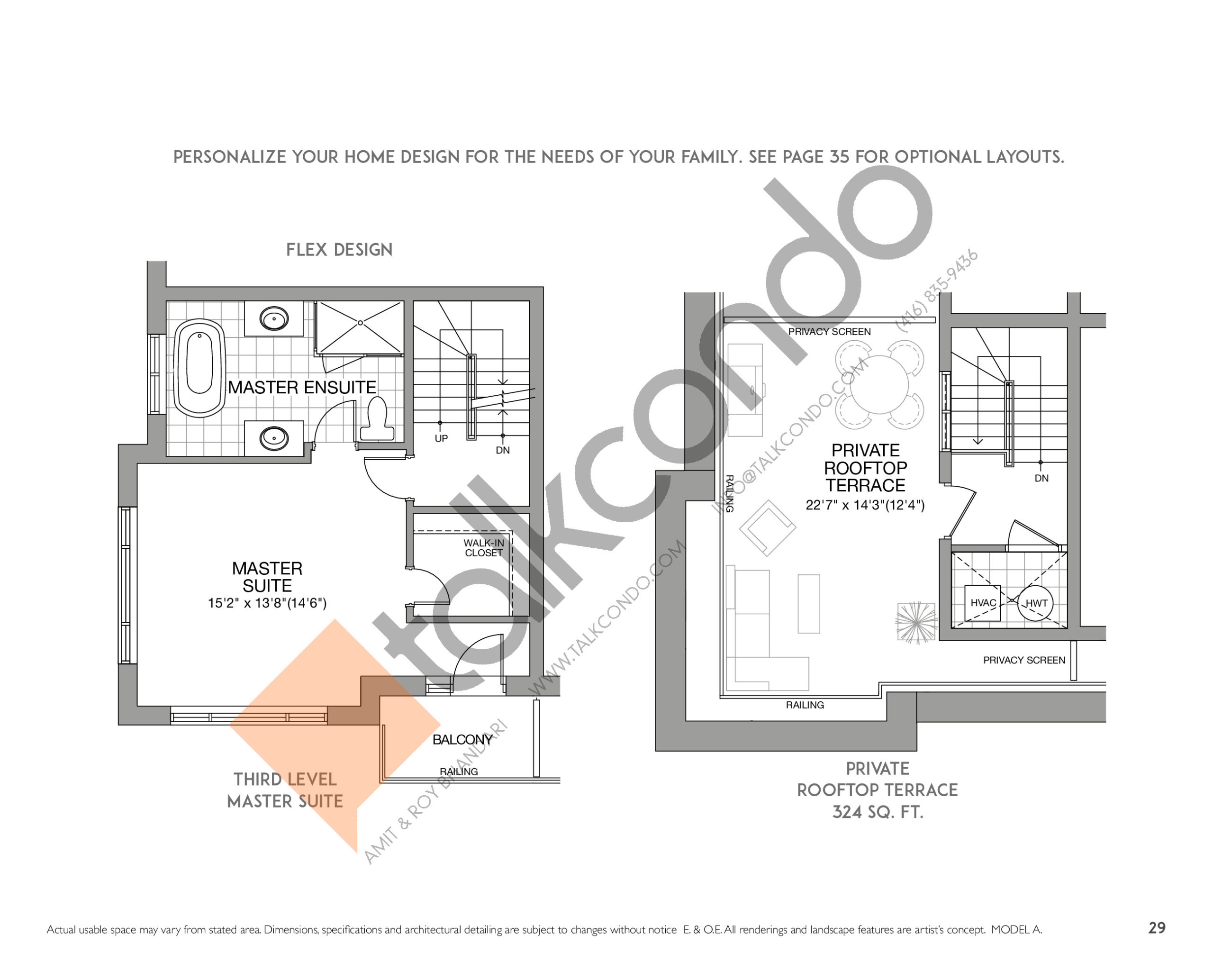 The Soho (2/2) Floor Plan at Eleven Altamont Towns - 2103 sq.ft