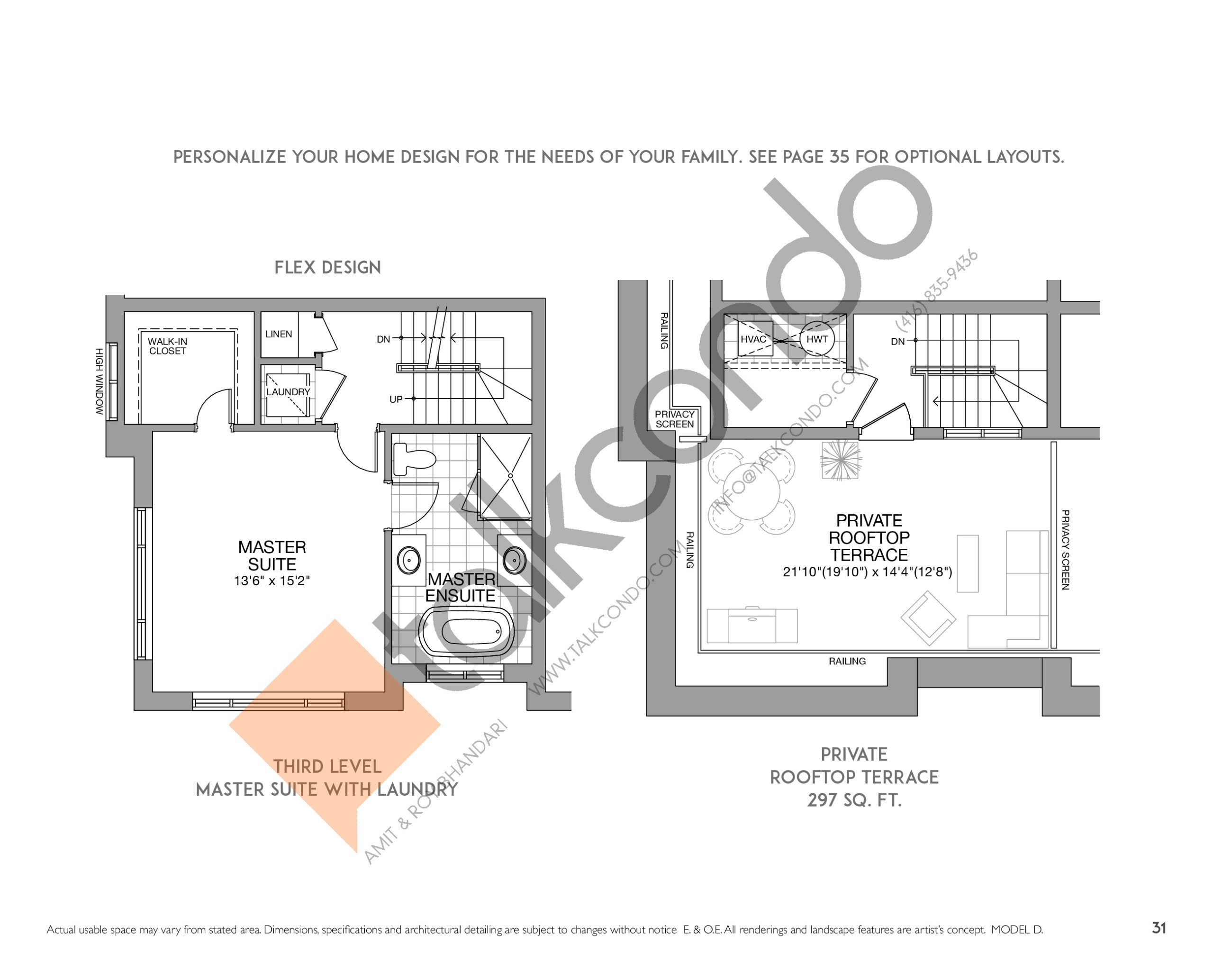 The Tribeca (2/2) Floor Plan at Eleven Altamont Towns - 2107 sq.ft